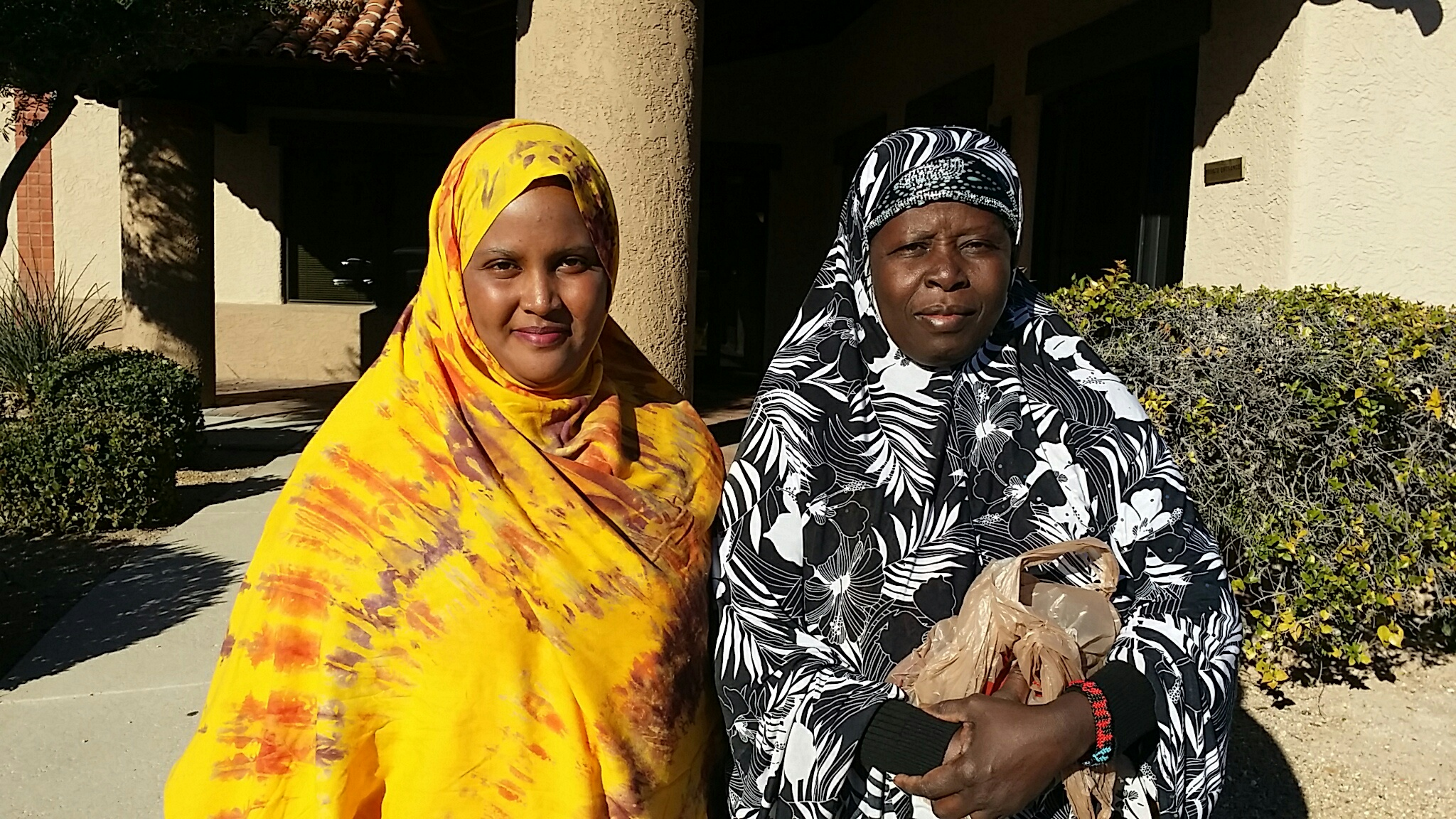 Somali Refugee Women entering the offices of the International Rescue Committee in Tucson.
