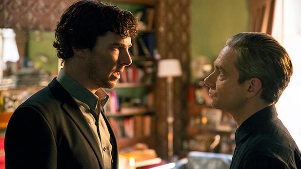 Sherlock Holmes (BENEDICT CUMBERBATCH), John Watson (MARTIN FREEMAN)