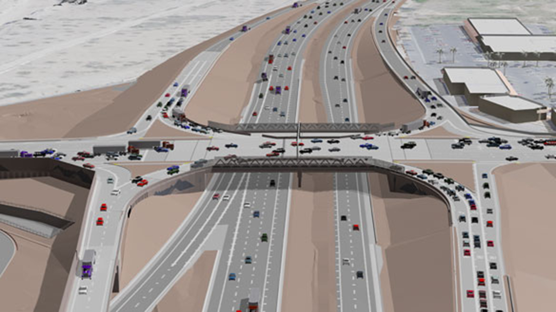 A rendering of what the completed Ajo Way/Interstate 19 will look like once completed. The project is expected to be complete in early 2018.