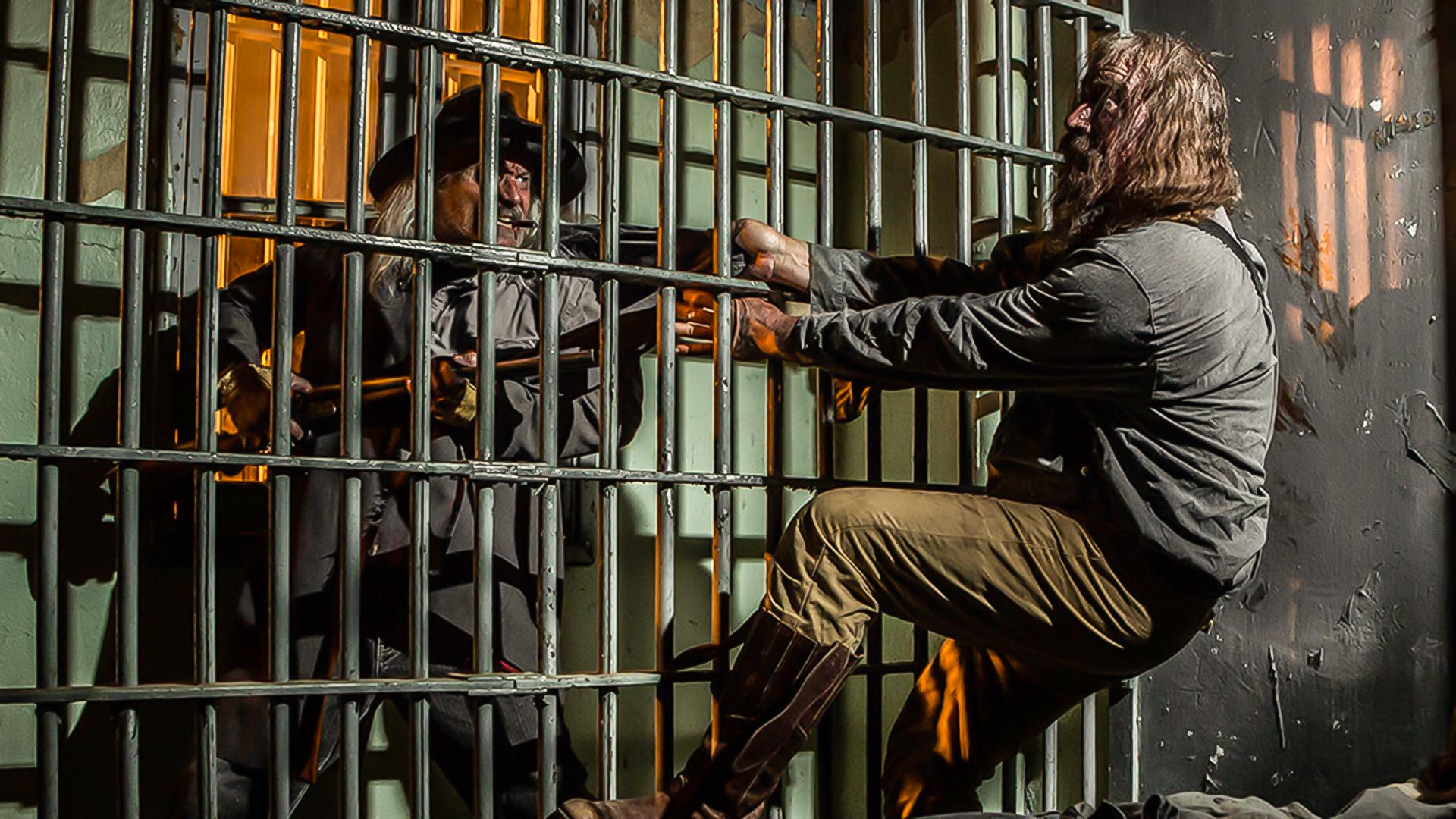 An image from the promotional materials of the Haunted Jail at Globe.
