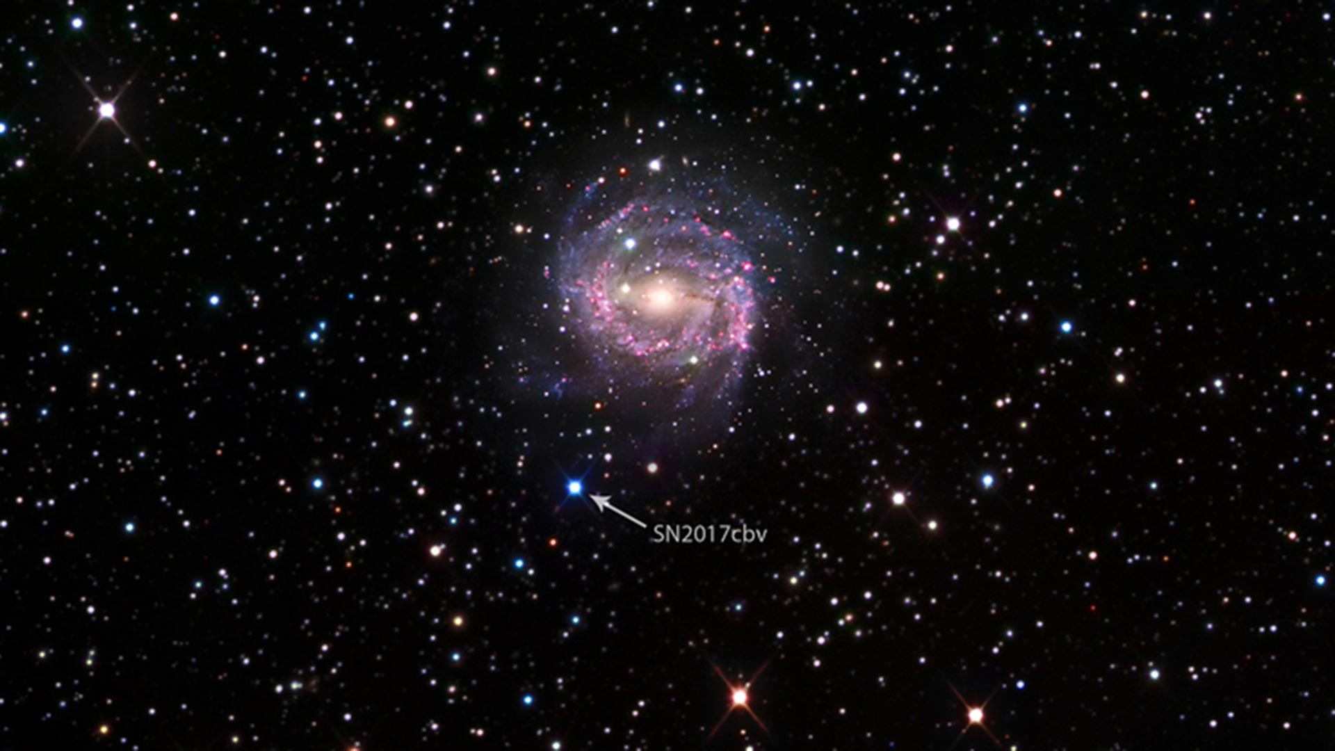 UA astronomer David Sand discovered supernova SN 2017cbv in March 2017 when he was with the Las Cumbres Observatory in California.