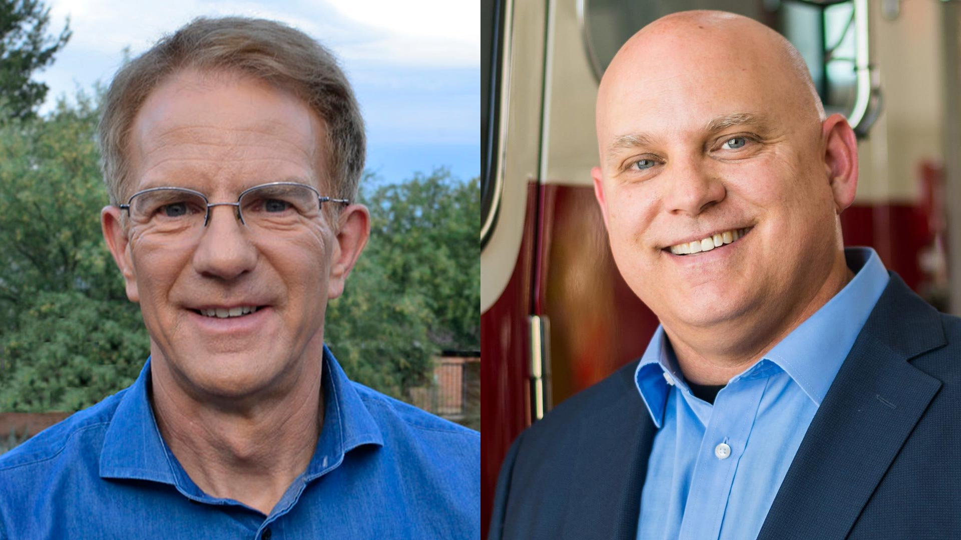 Paul Durham, left, and Gary Watson are running for the Ward 3 seat on the Tucson City Council on Nov. 7, 2017.