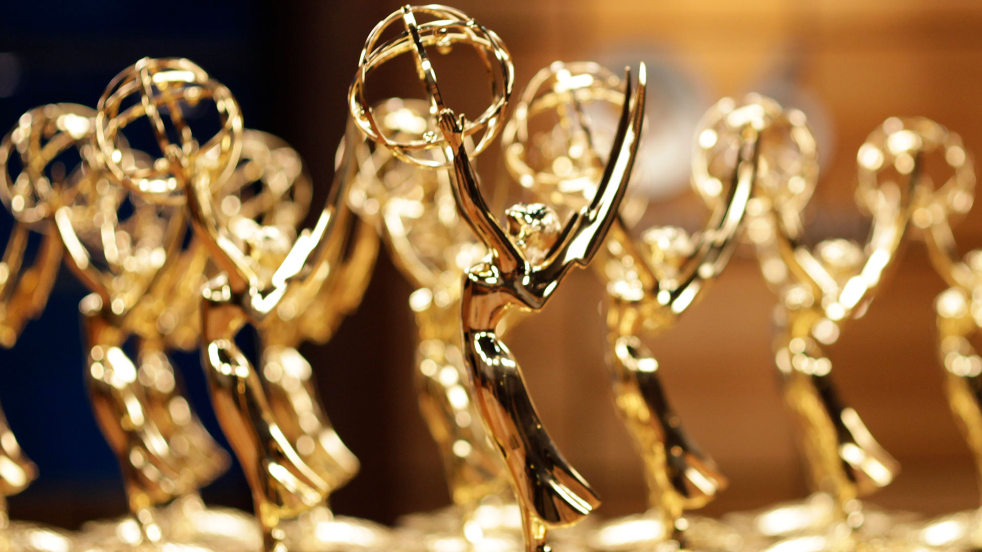 Closeup of an Emmy statuette