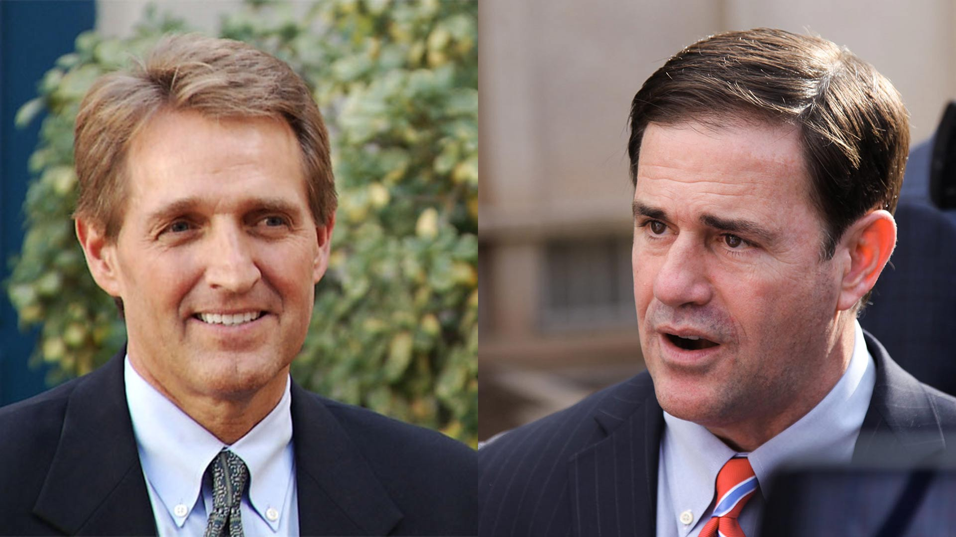 U.S. Sen. Jeff Flake, left, and Arizona Gov. Doug Ducey