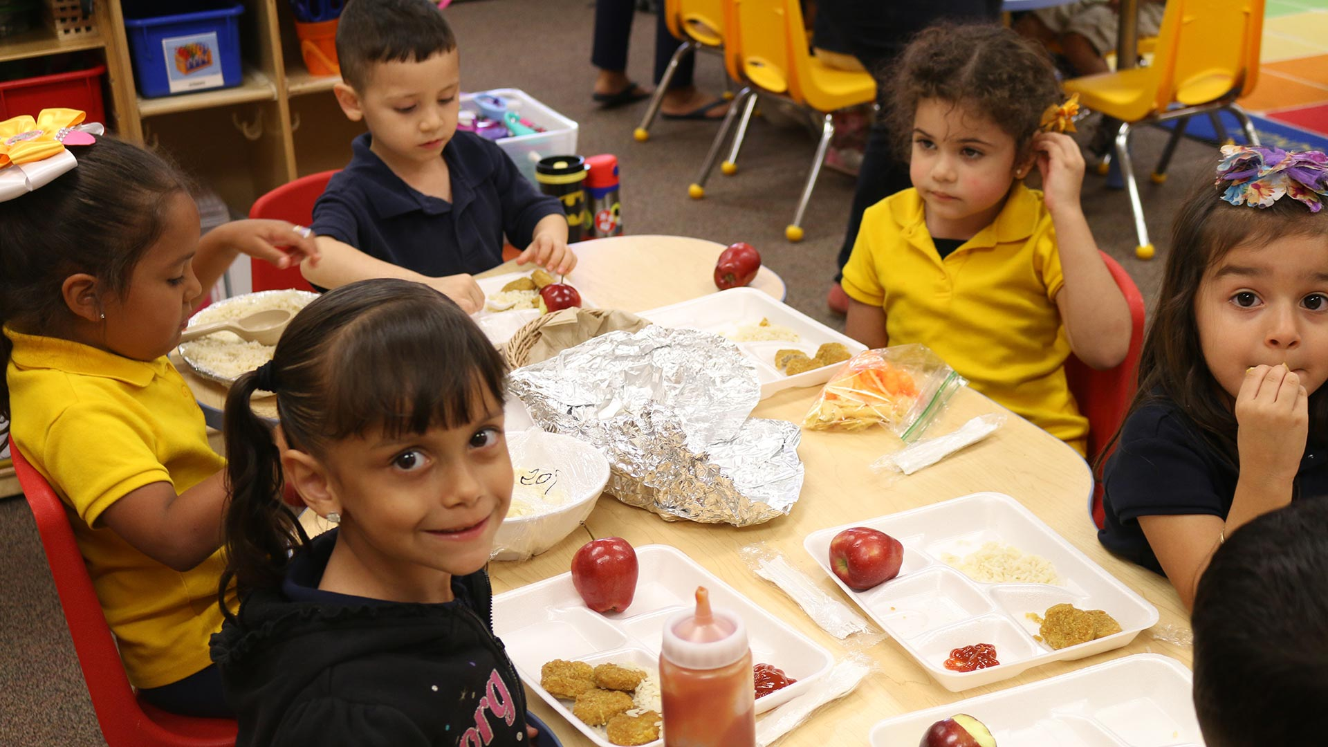 Students at the preK-8 Calabasas School in the Santa Cruz Valley Unified School District.