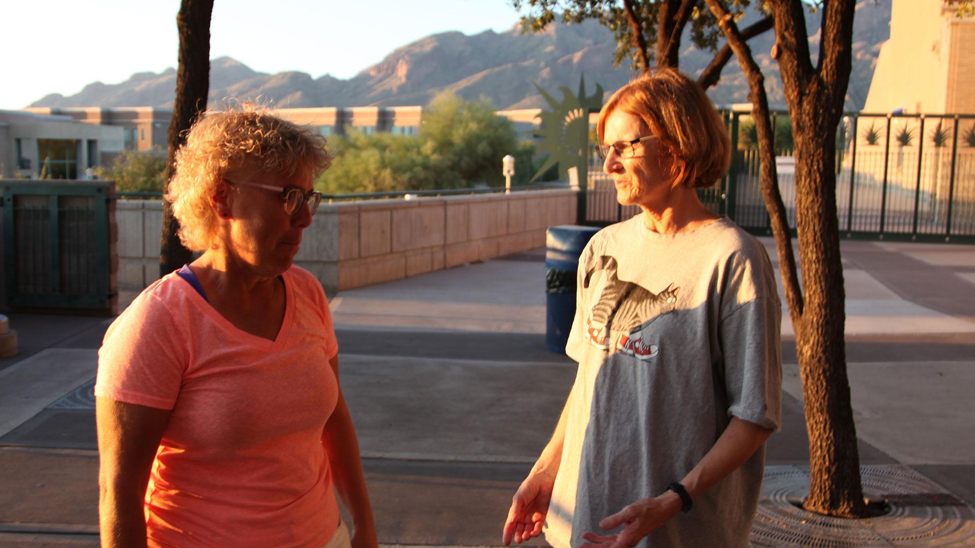 Falcons band Renee and Gail