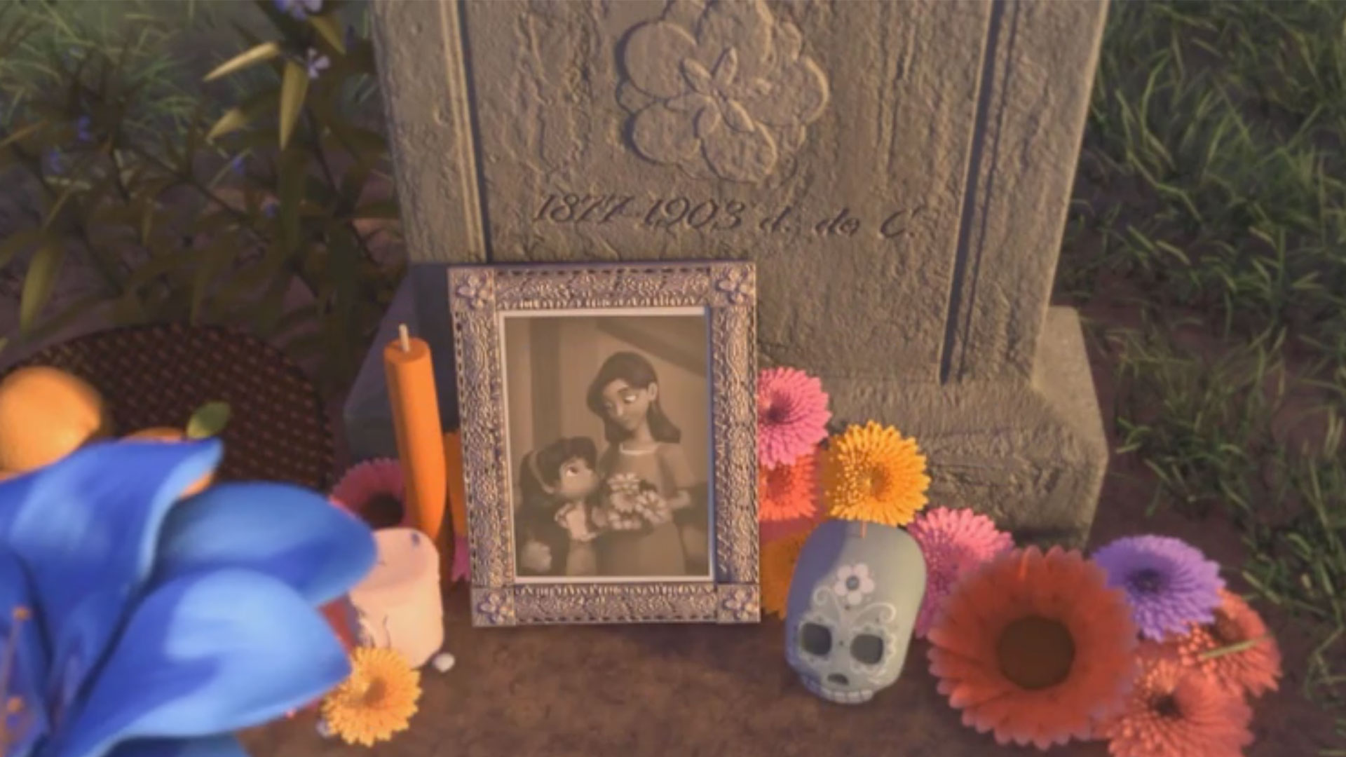 A scene from 'Dia de los Muertos' an animated film from KQED Film School Shorts.