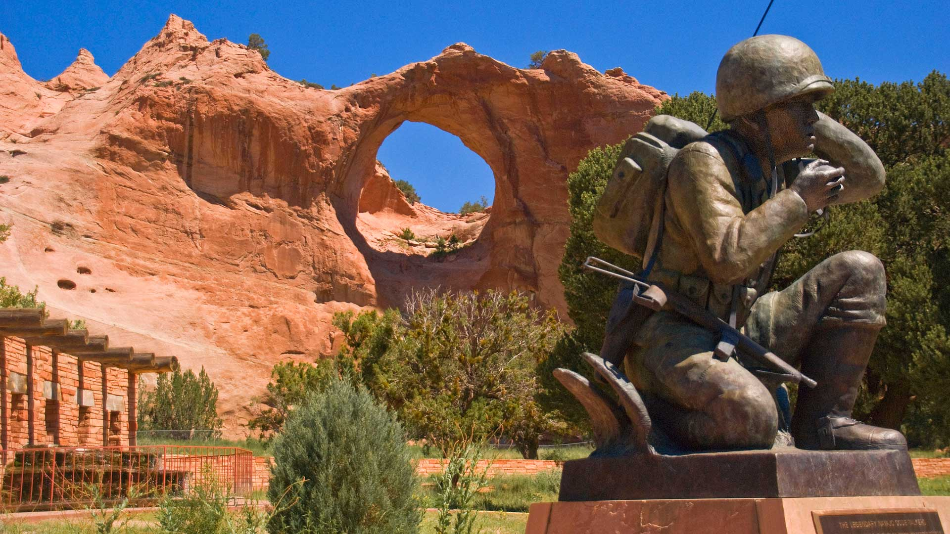 Navajo Code Talker Memorial at Window Rock, Arizona.