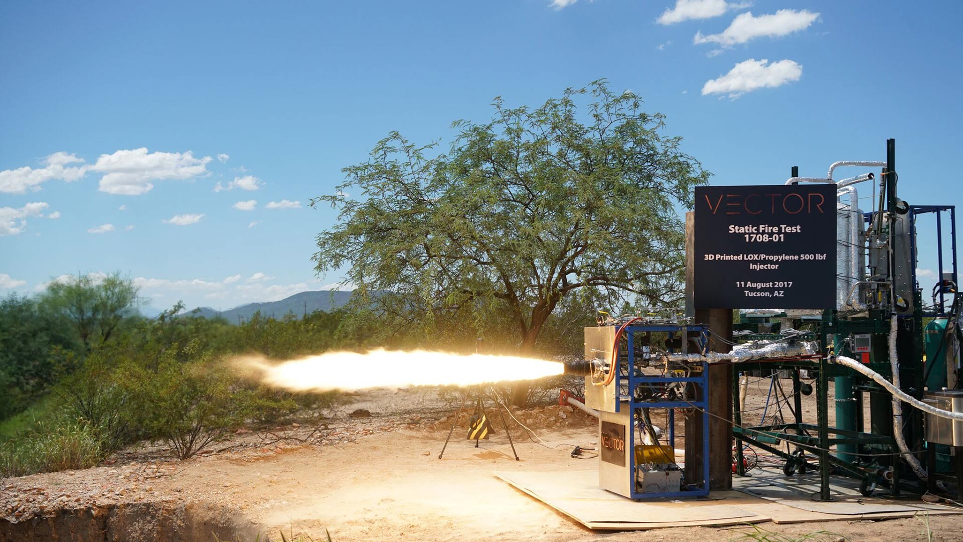 Vector conducts a static fire test in Tucson.