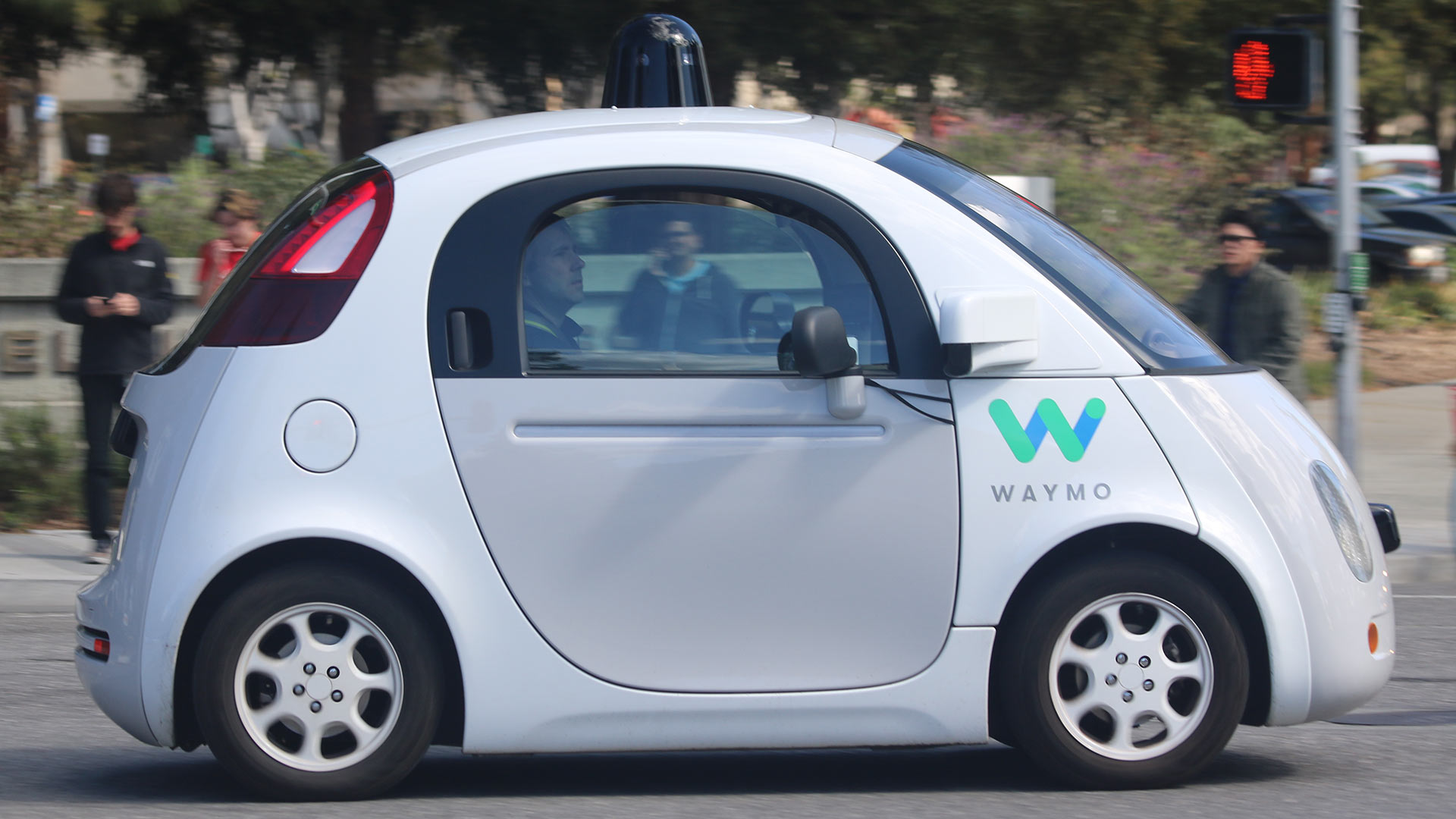 A Waymo self-driving car.