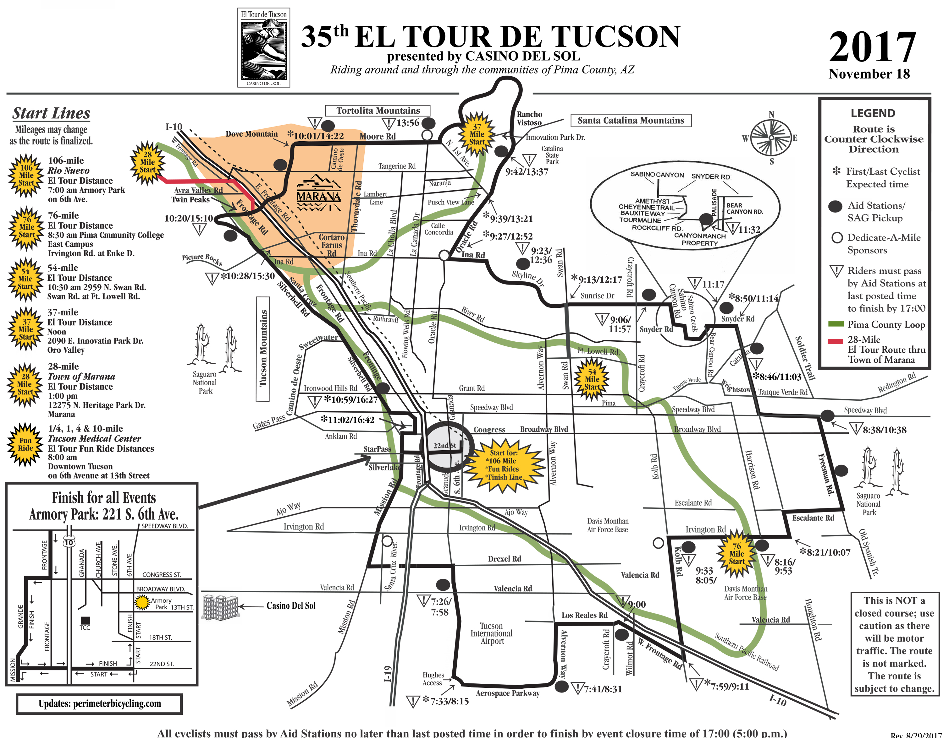 El Tour Map 2017