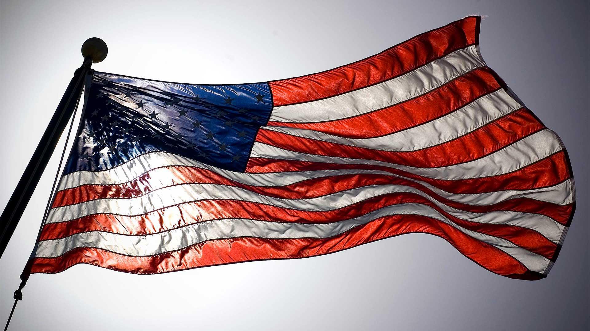 american flag light hero