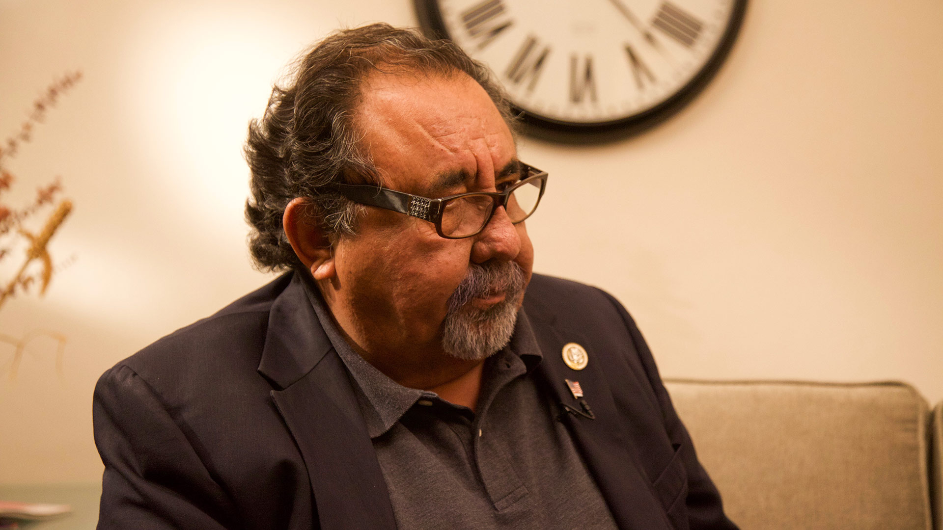 U.S. Rep. Raúl Grijalva in the Arizona Public Media studios, Nov. 20, 2017.