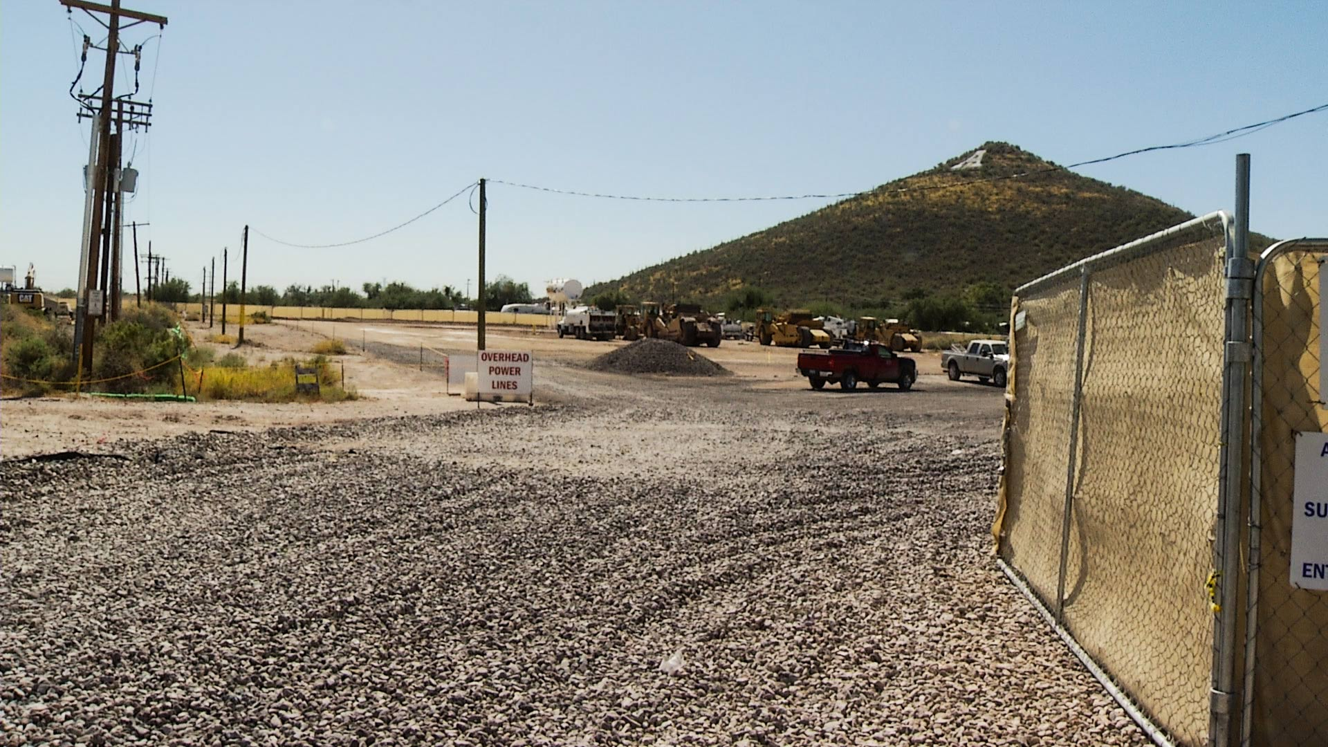 Constructions taking place below Sentinel Peak on Tucson's west side in 2017.