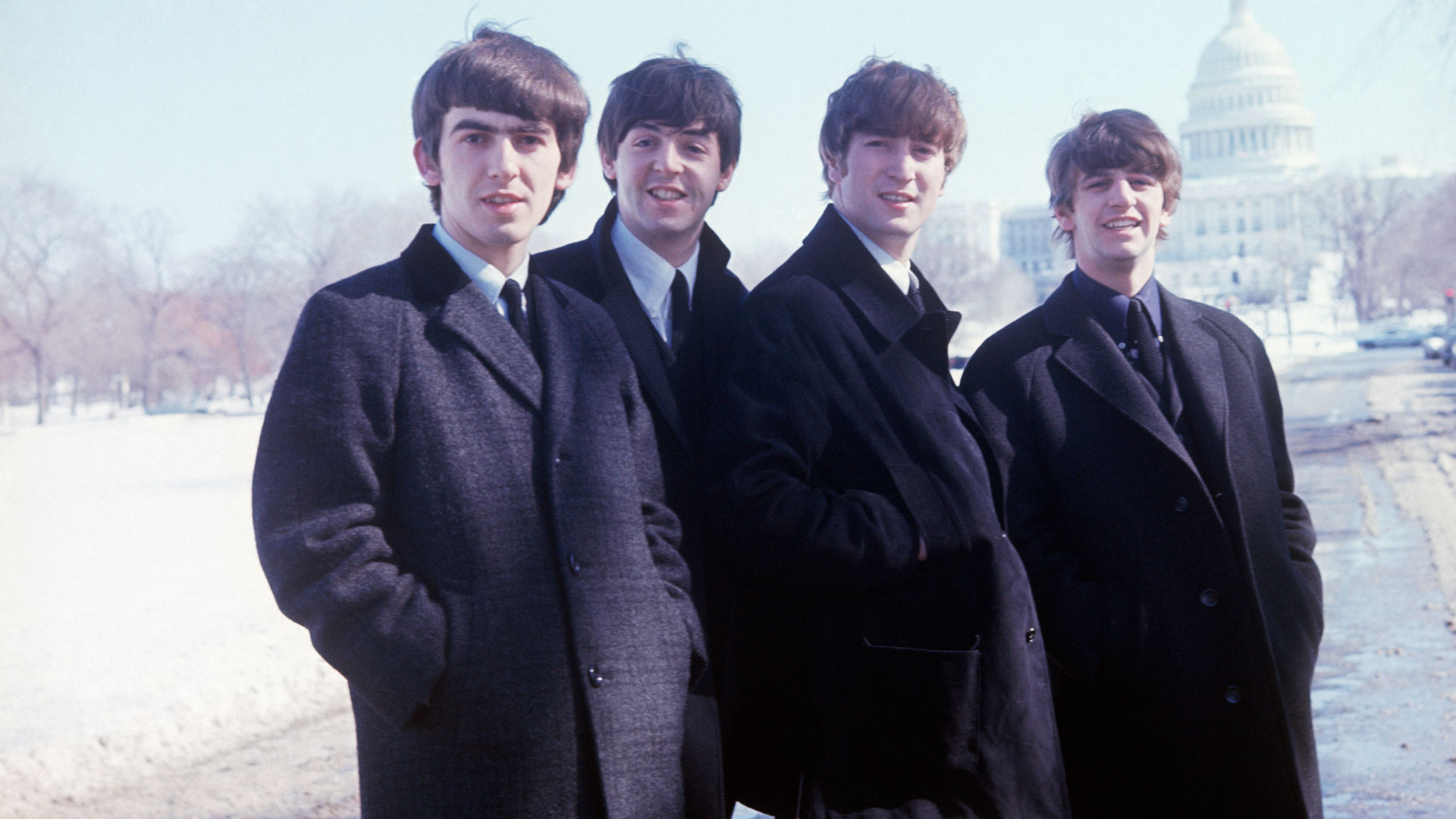 The Beatles in Washington DC, February 1964.