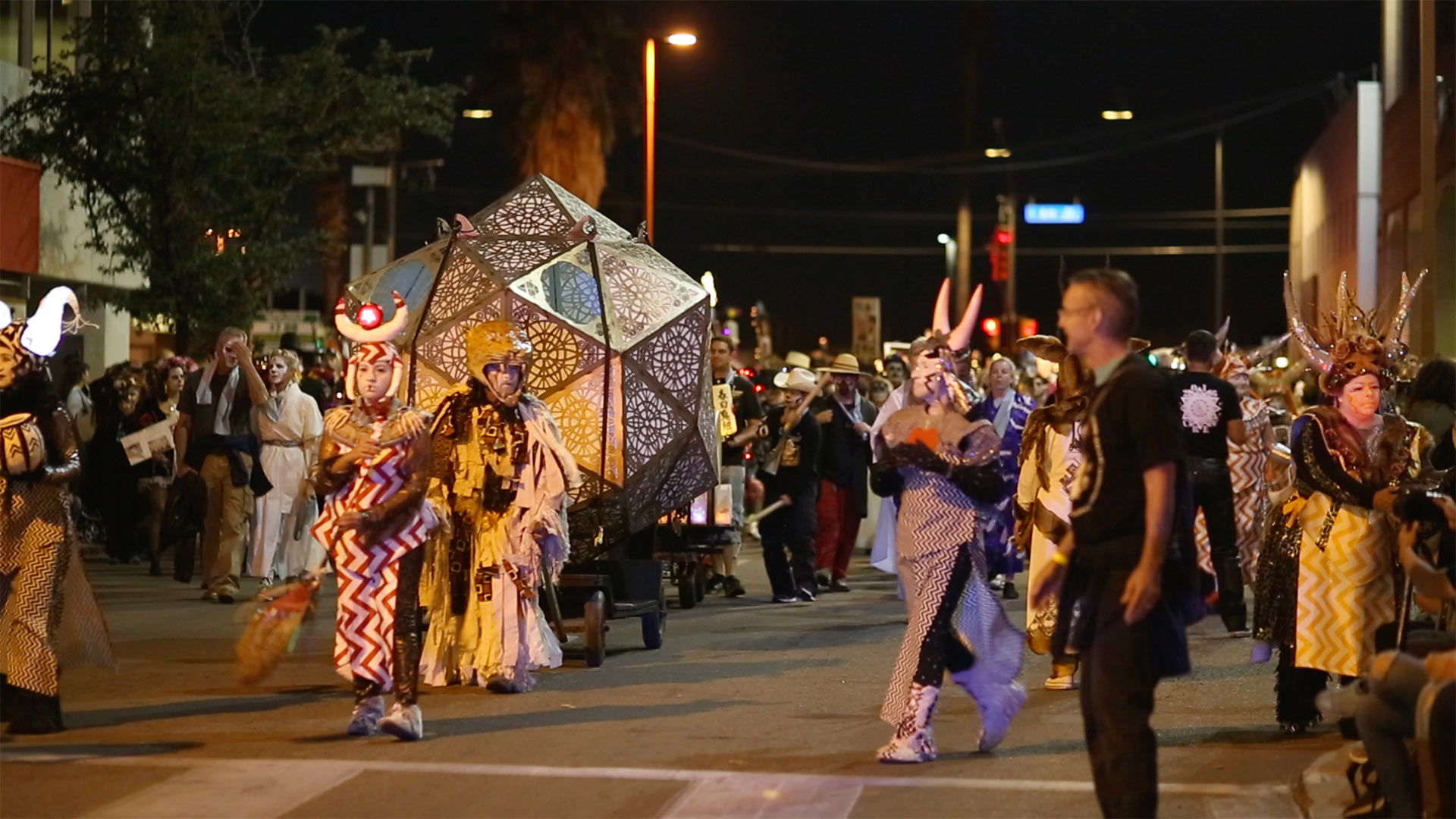 The All Souls procession in Downtown Tucson.