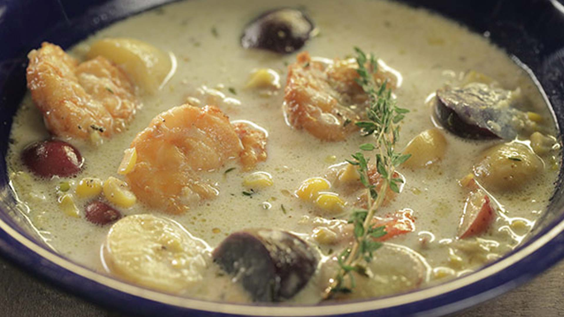 Stephen Raichlen's Smoked Shrimp and Corn Chowder