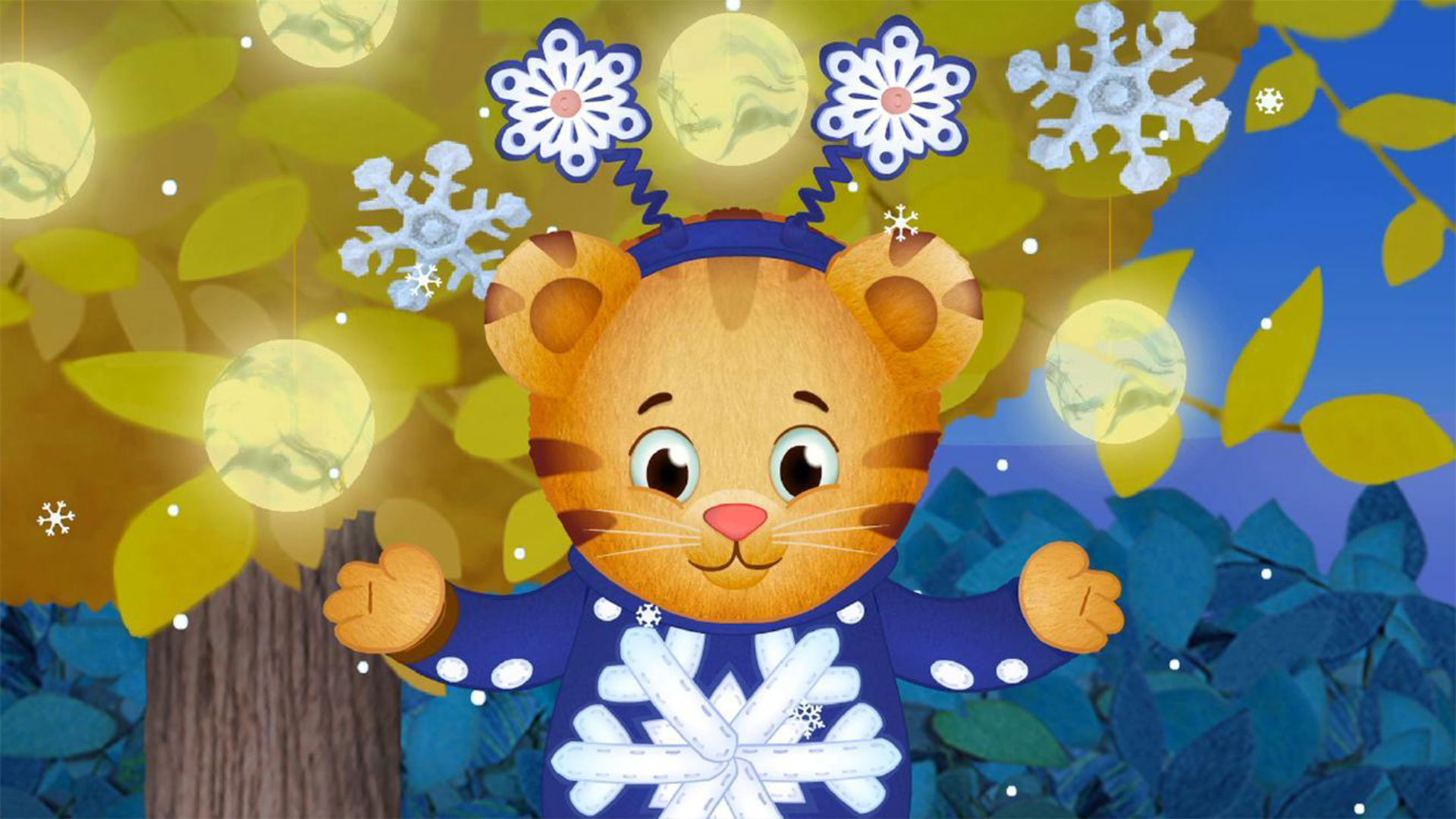 Daniel Tiger snowflake day