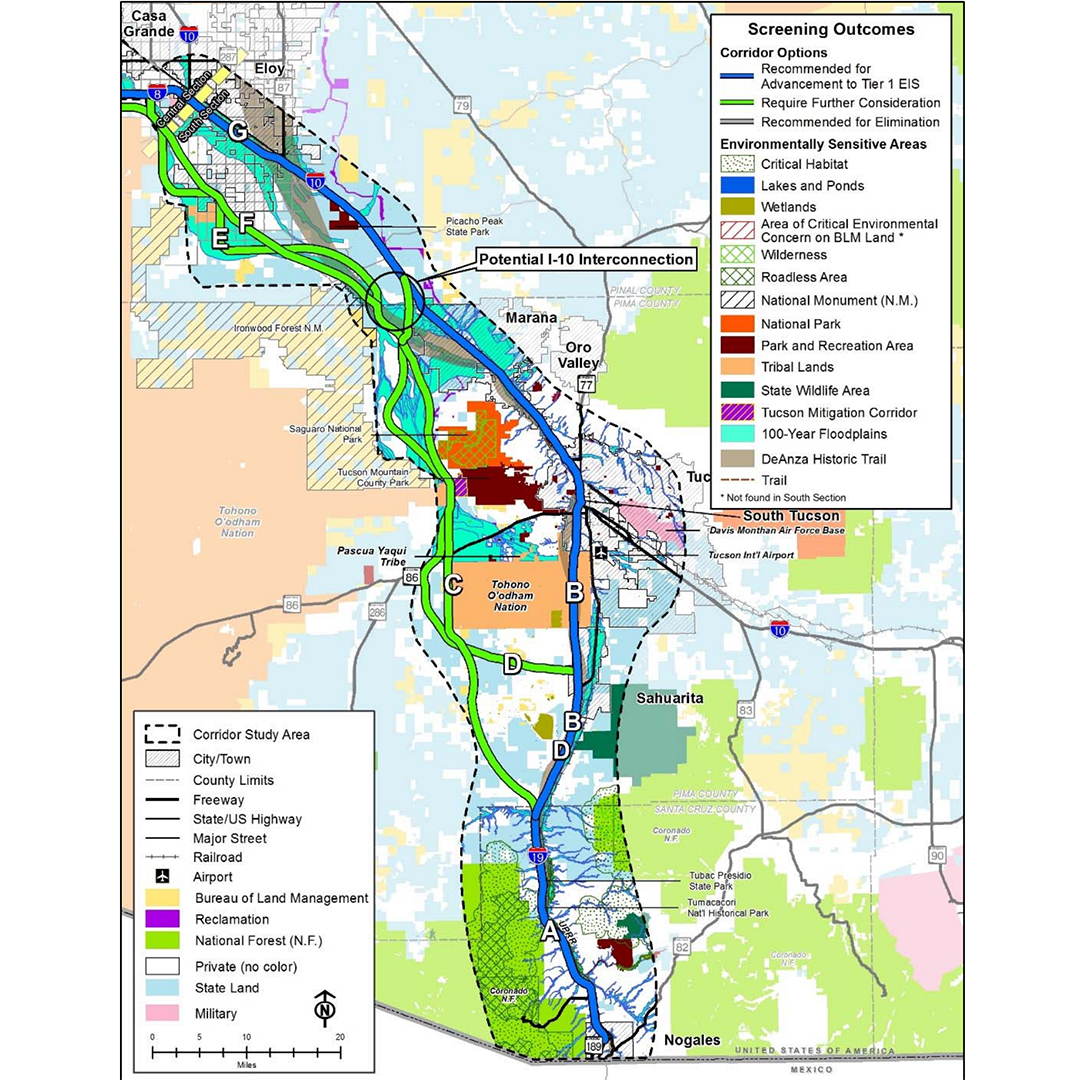 2 Routes Run Through Avra Valley in Report on Proposed Interstate - AZPM