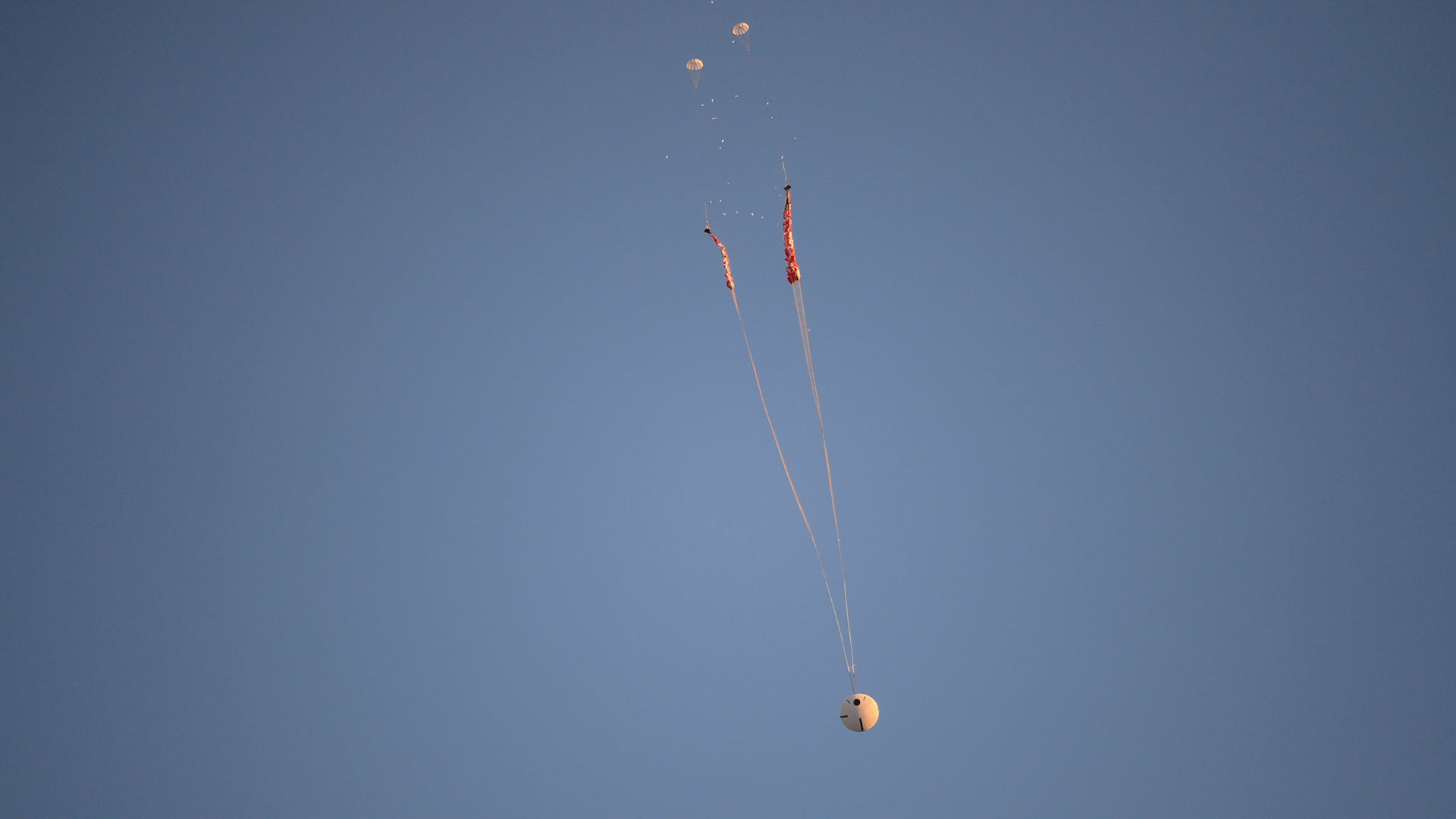 A parachute test of the Orion spacecraft, Dec. 15, 2017.