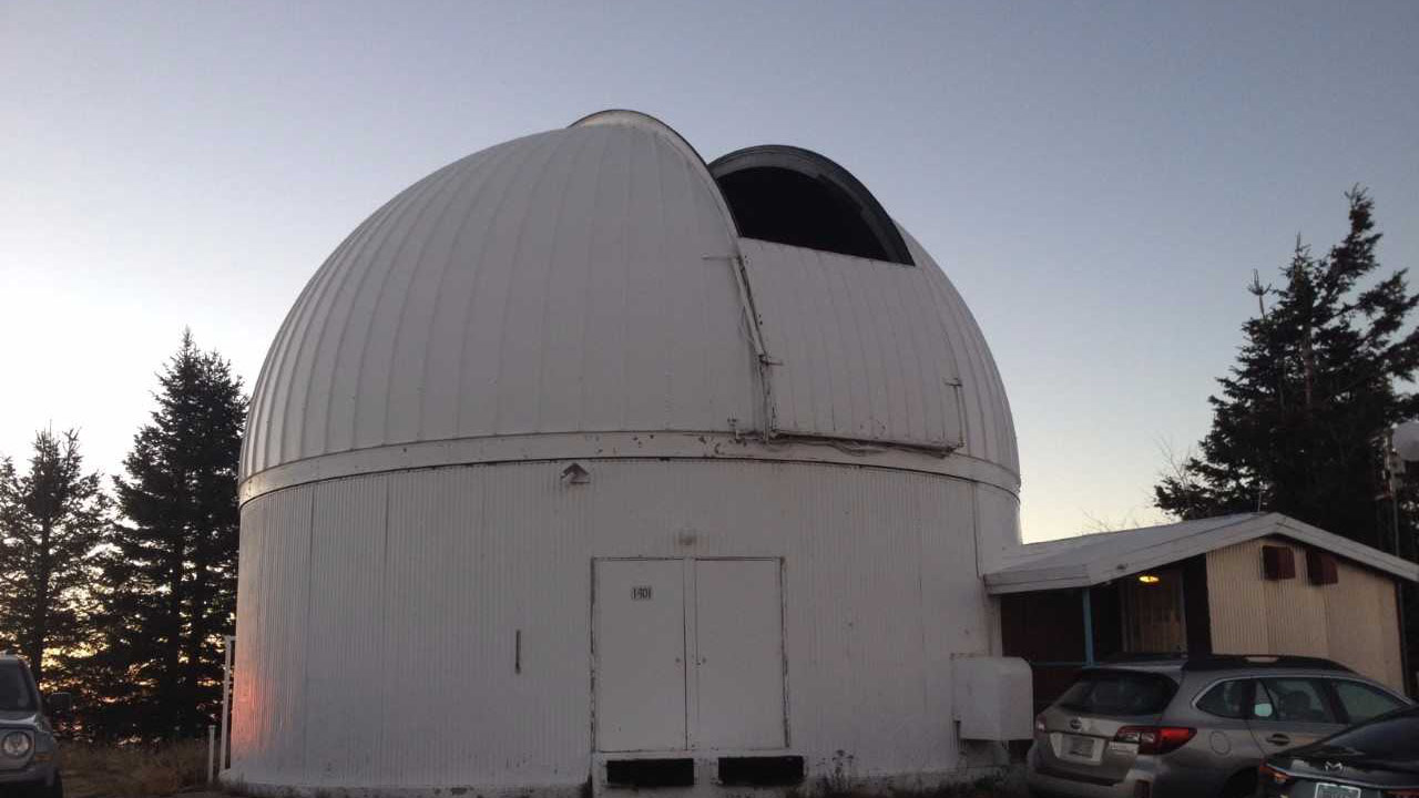The domed structure that houses the University of Arizona's 60-inch telescope used to search for near-earth objects.