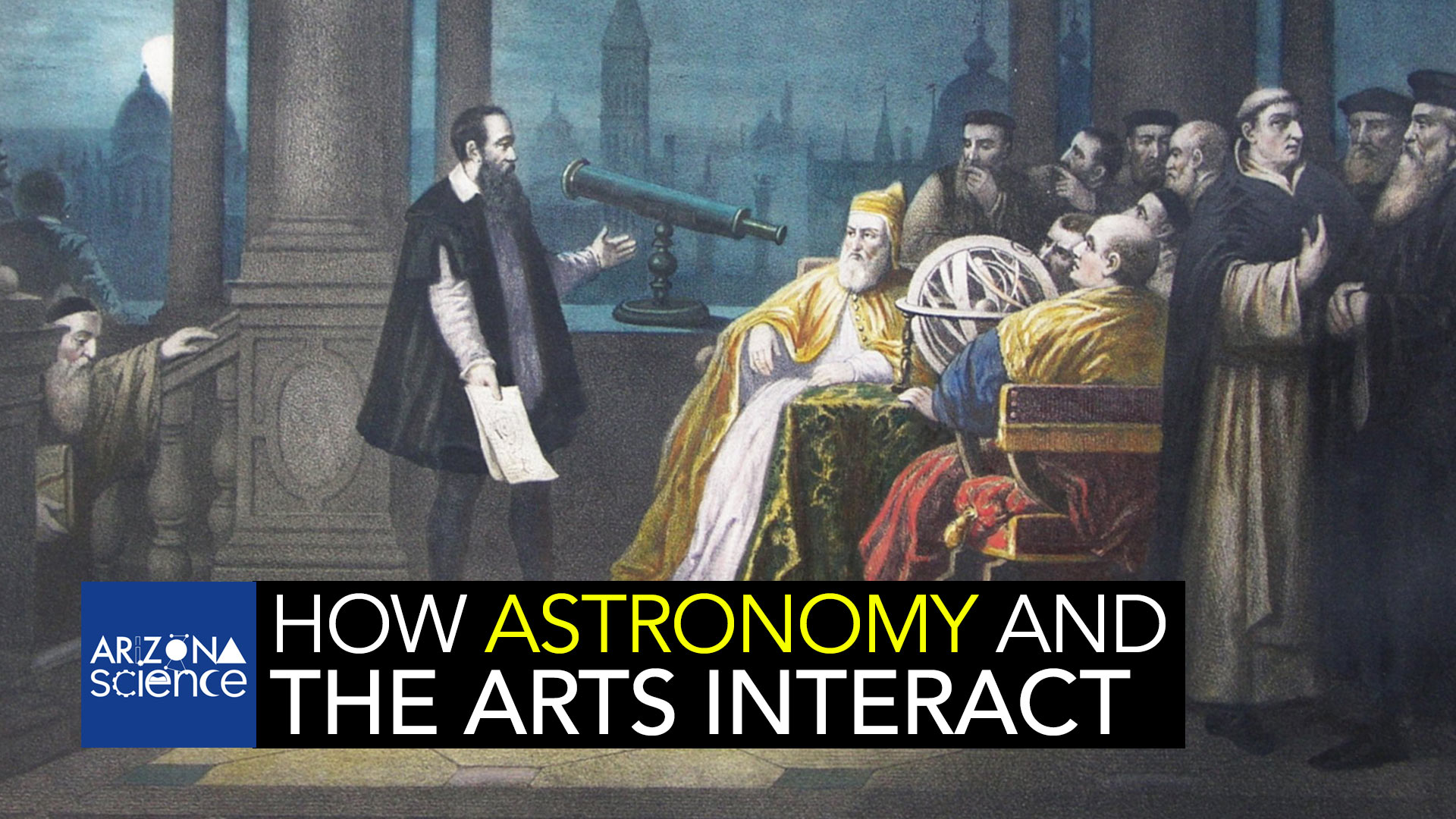 The role of astronomical themes in poetry and art. (Painting by H.J. Detouche)