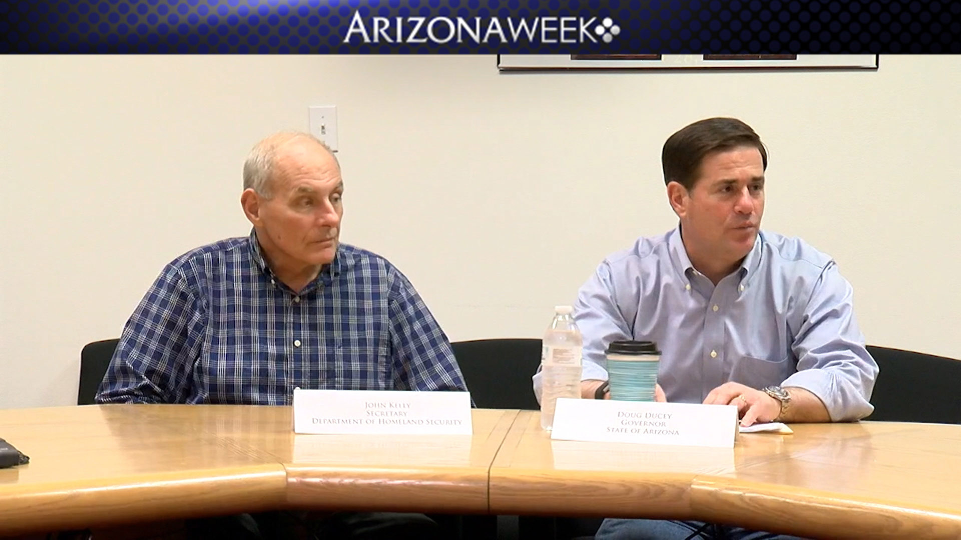 Homeland Security Secretary John Kelly (left) and Arizona Gov. Doug Ducey, Feb. 9, 2017.