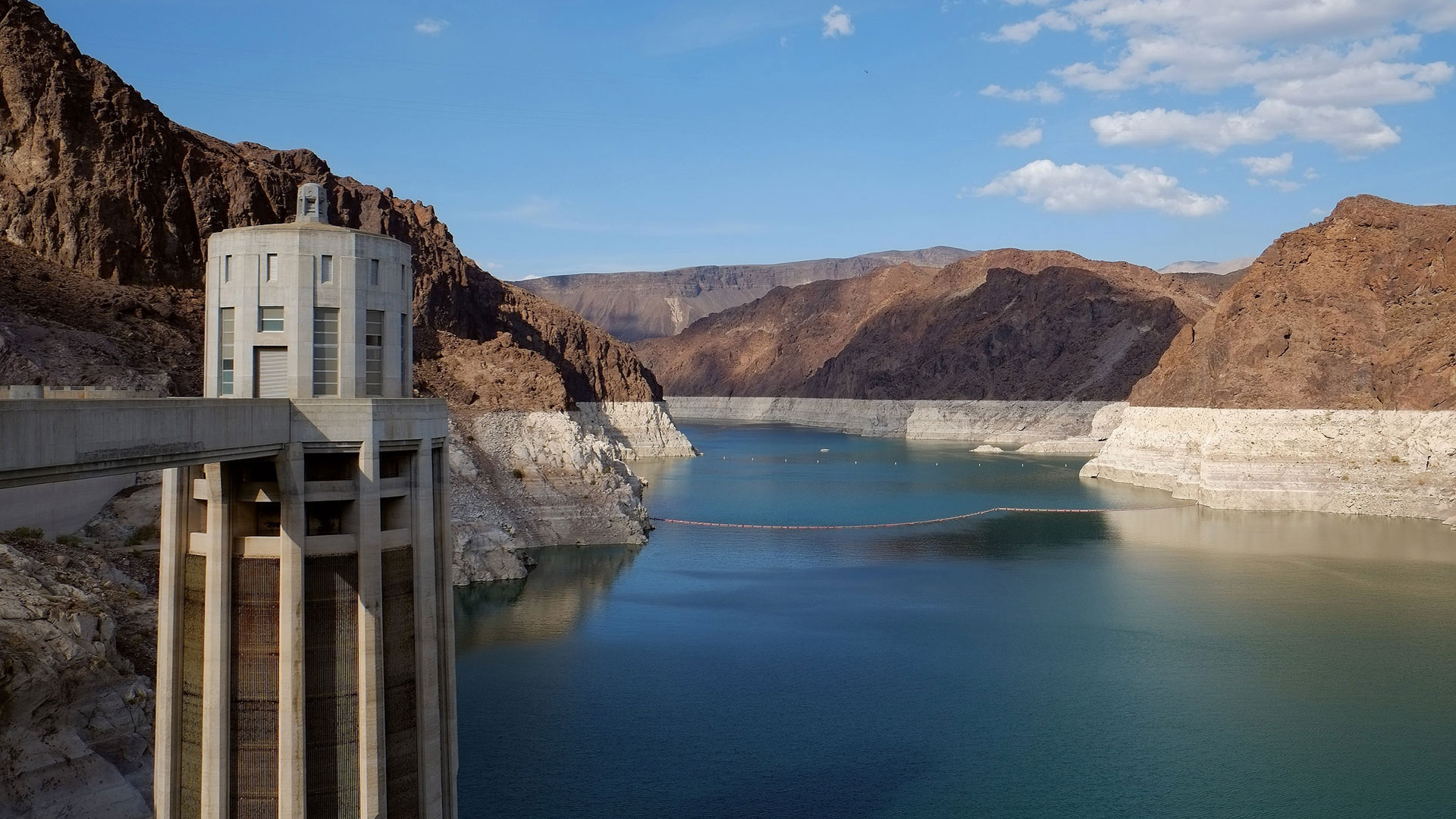 A view from the Lake Mead side of the Hoover Dam.