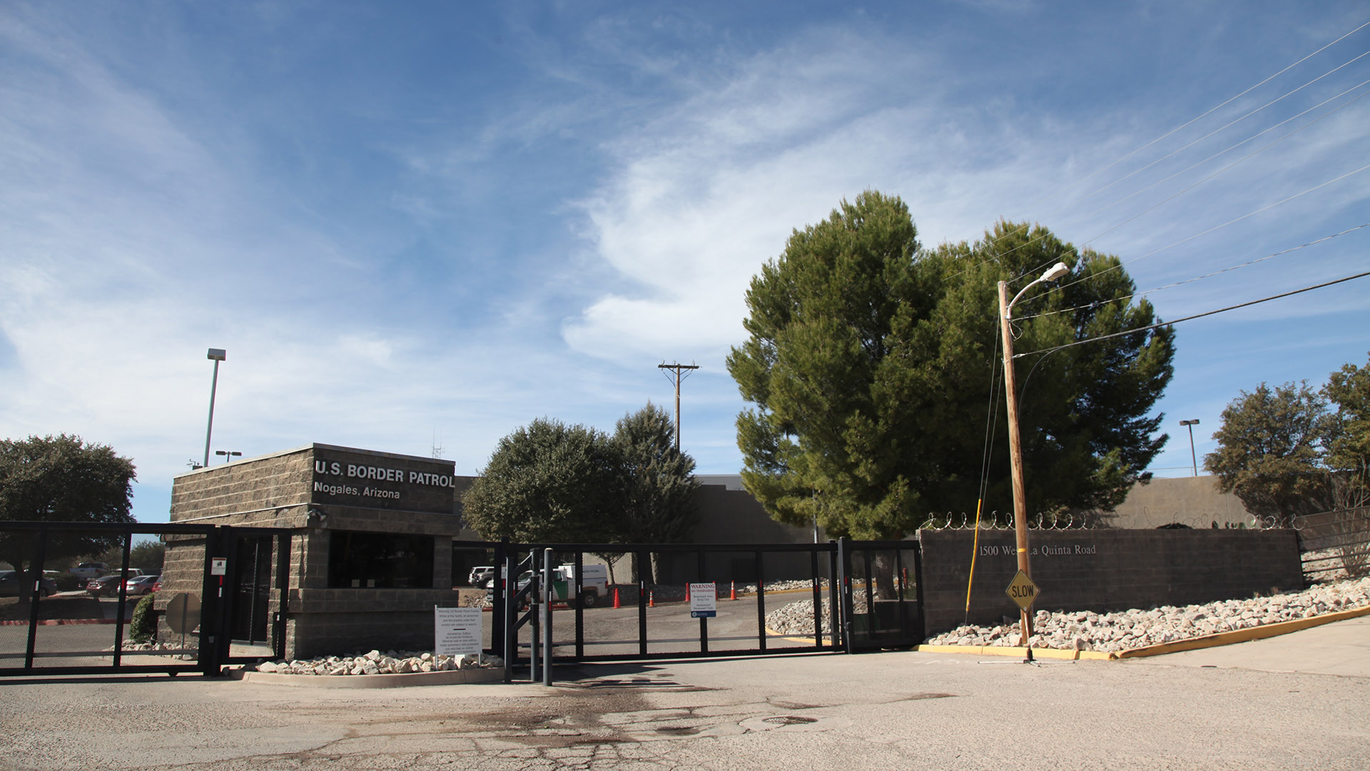 The entrance to the Nogales Border Patrol Station, February 2017.