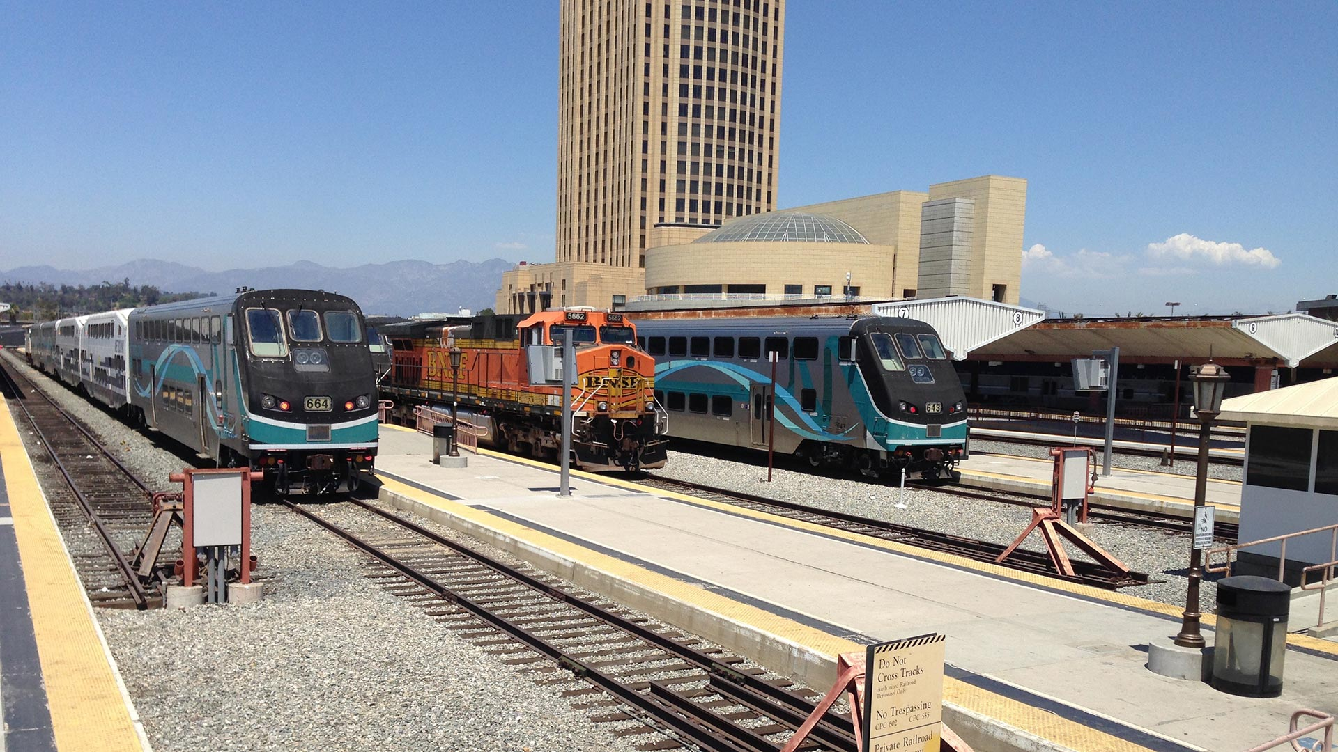 Metrolink trains, CA