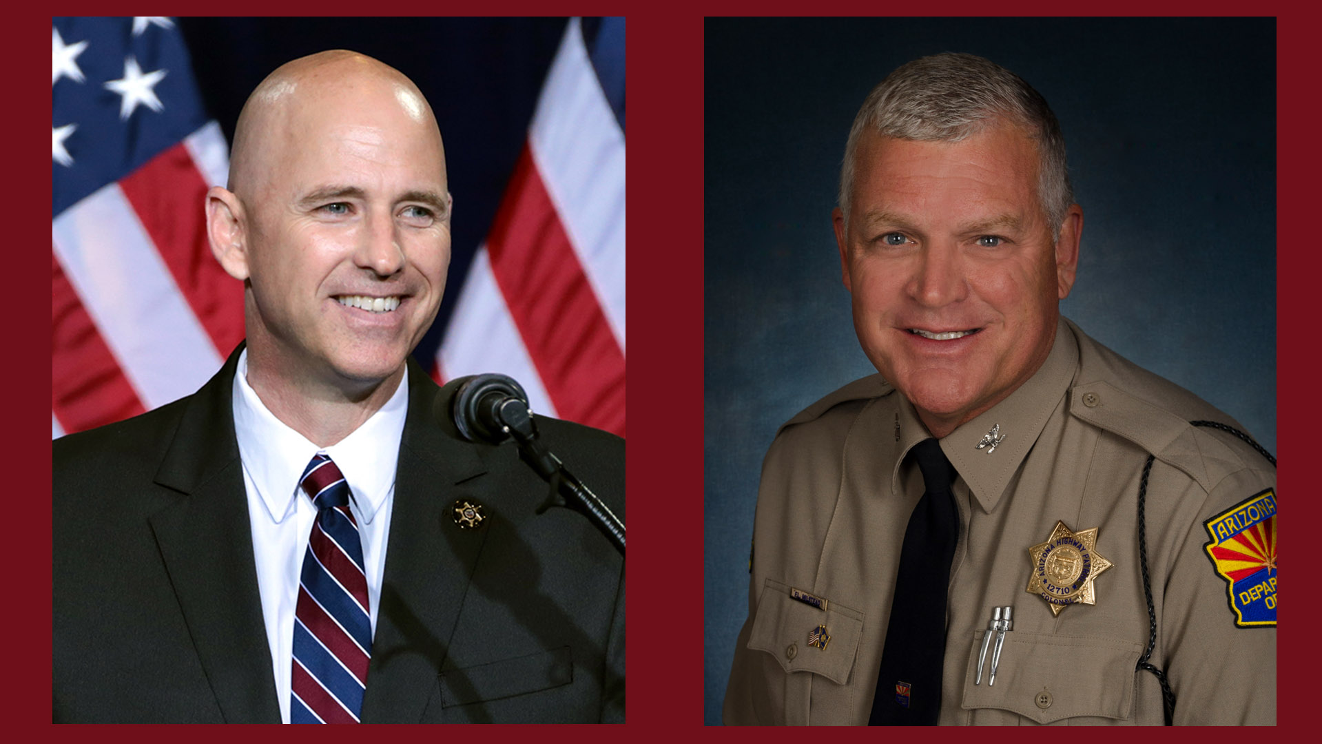 Paul Babeu (left) and Frank Milstead.