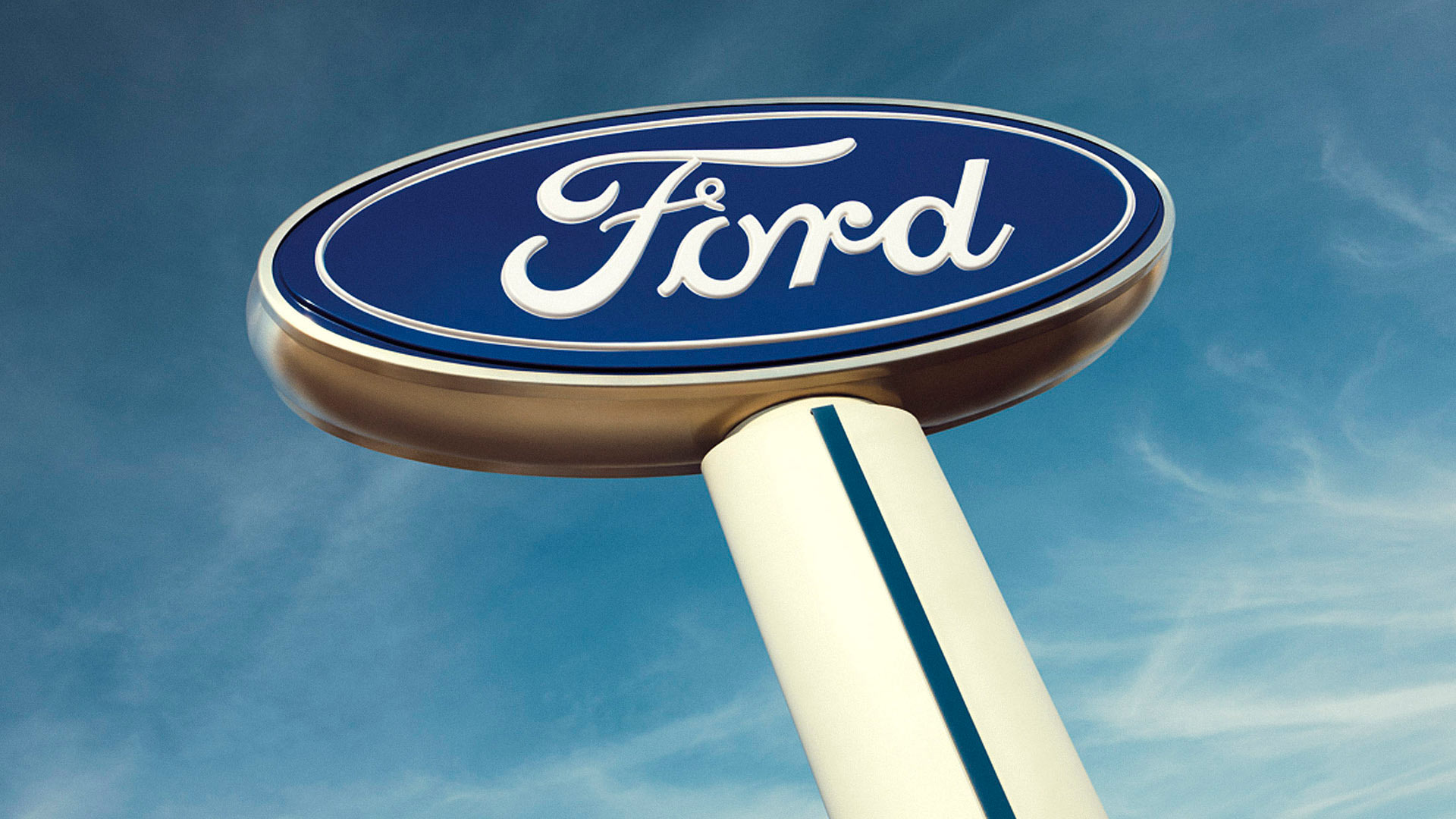 The Ford Motor Company sign.
