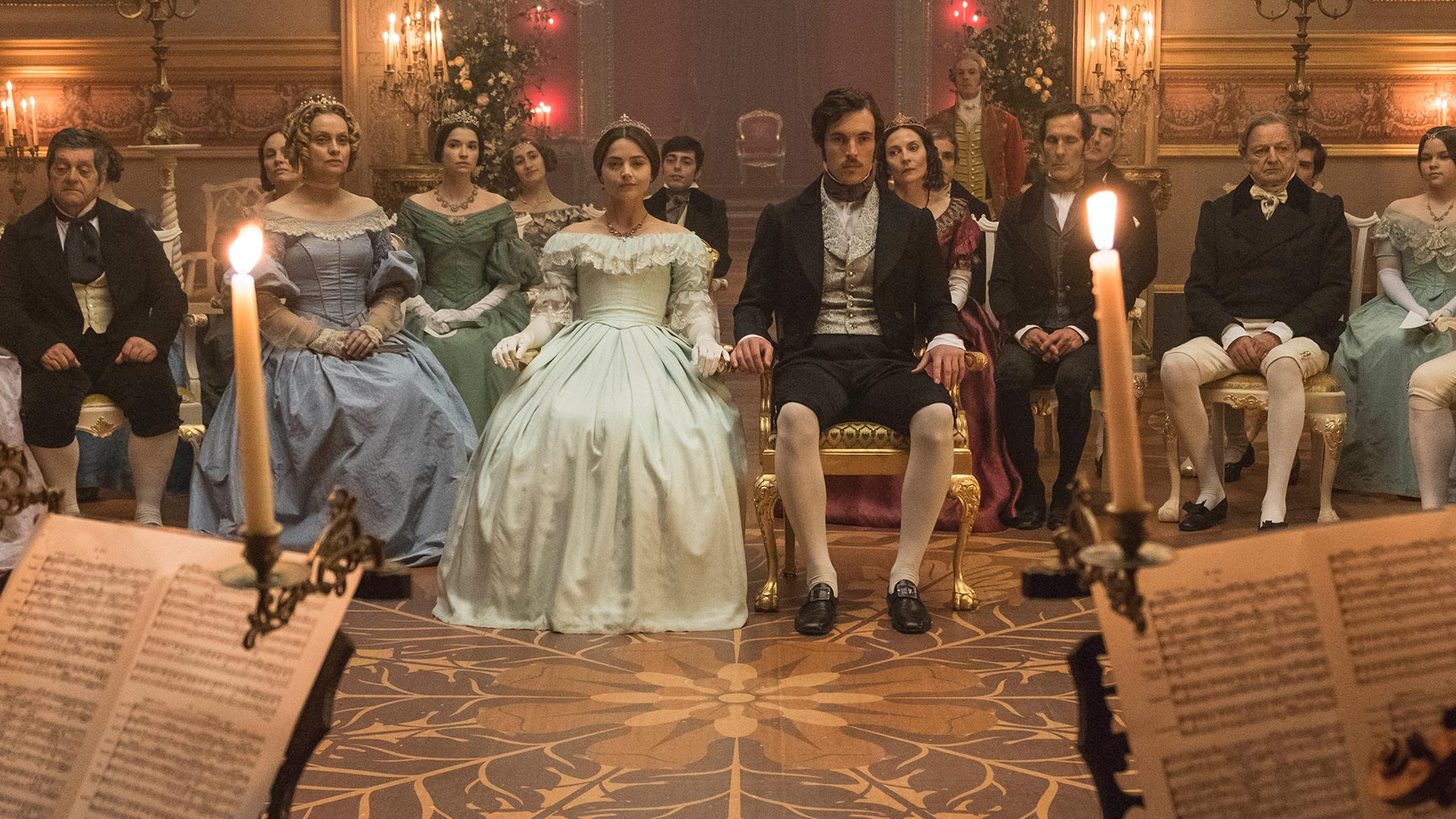 Jenna Coleman as Victoria and Tom Hughes as Prince Albert