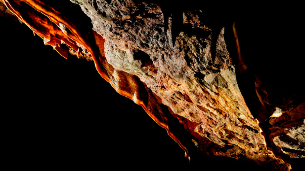 Inside Kartchner Caverns.