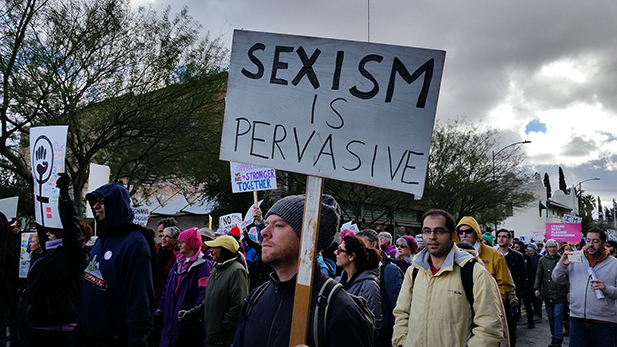 Tucson's demonstrators echoed the fears and hopes of the estimated 3 million people who held more than 600 Women's Marches around the world.