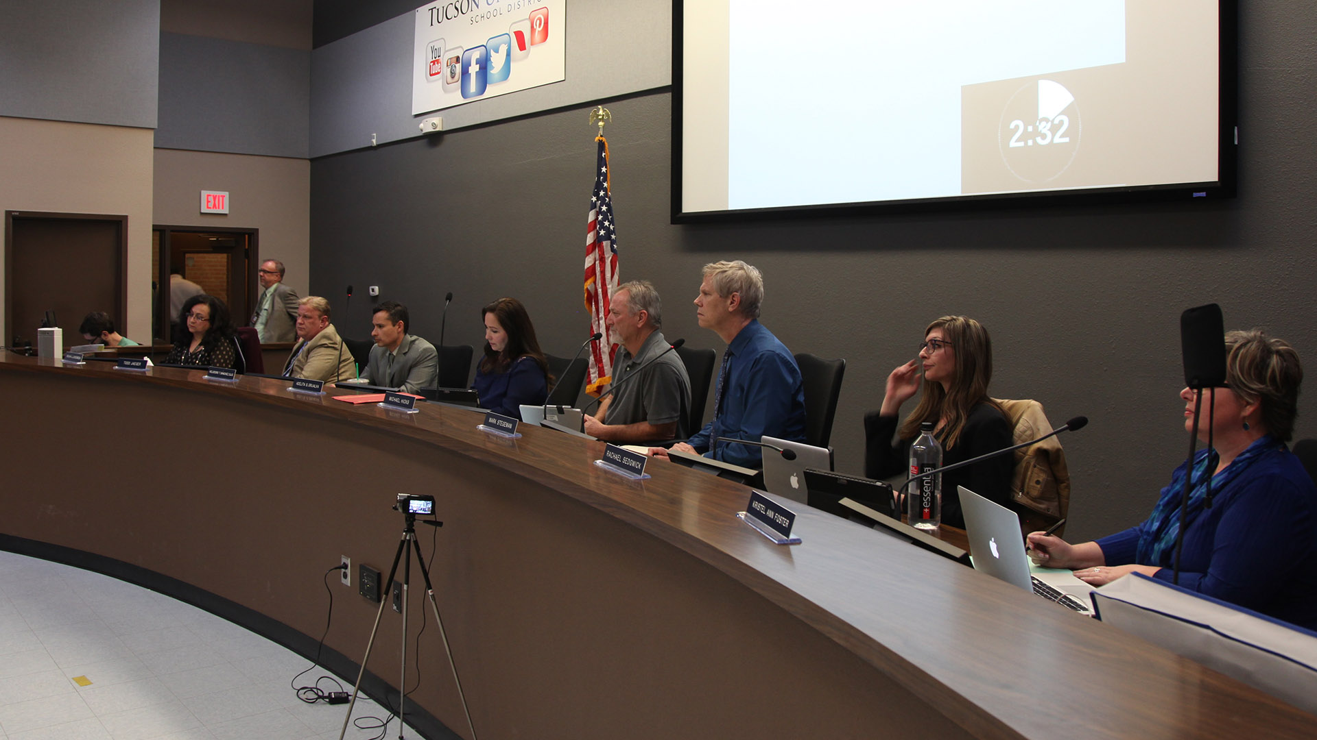 The TUSD Governing Board at a special meeting, Feb. 21, 2017.