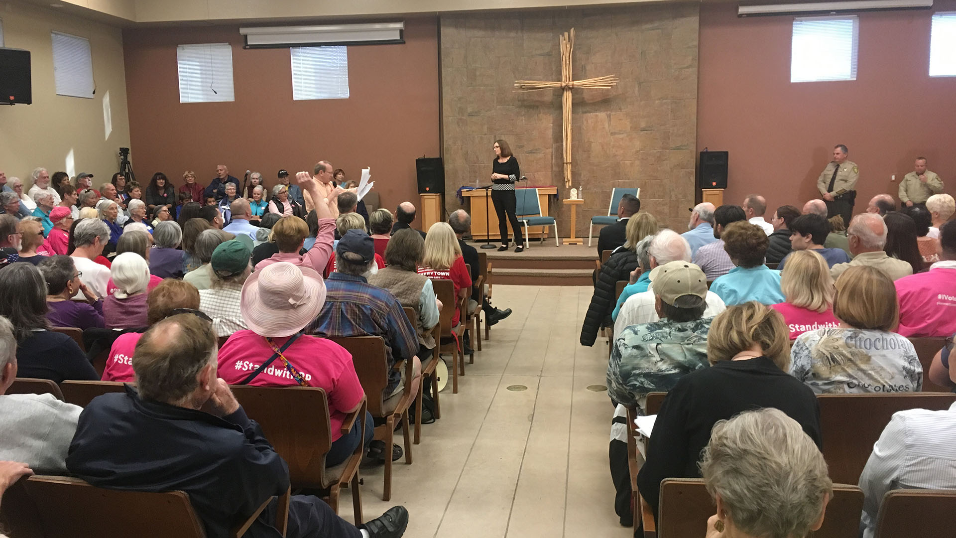Around 250 people fill the room at a town hall with U.S. Rep. Martha McSally on Feb. 23, 2017.