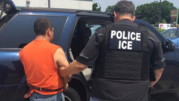 An ICE arrest.