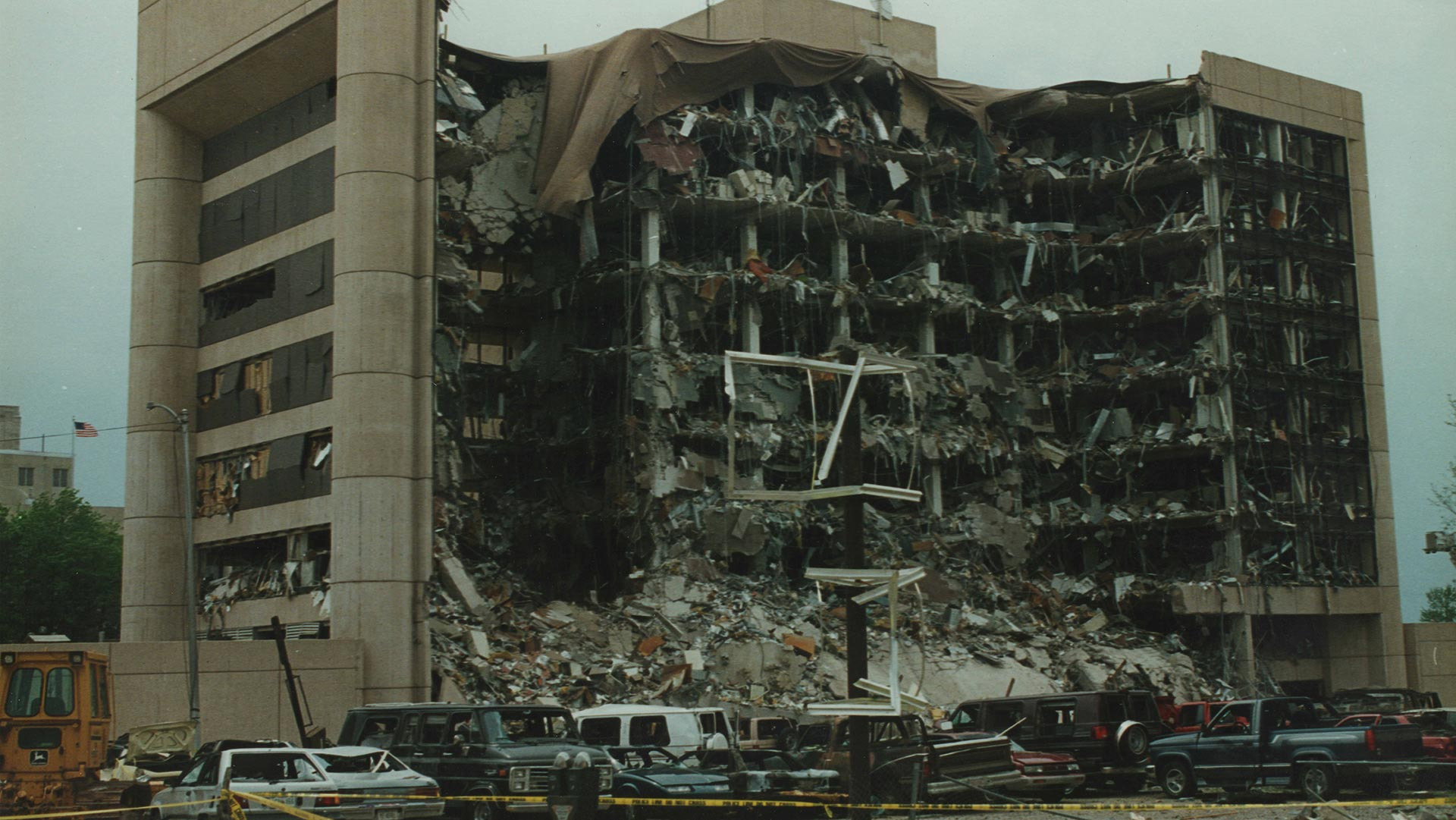 The Alfred P. Murrah Federal Building after the bombing (April 19, 1995).