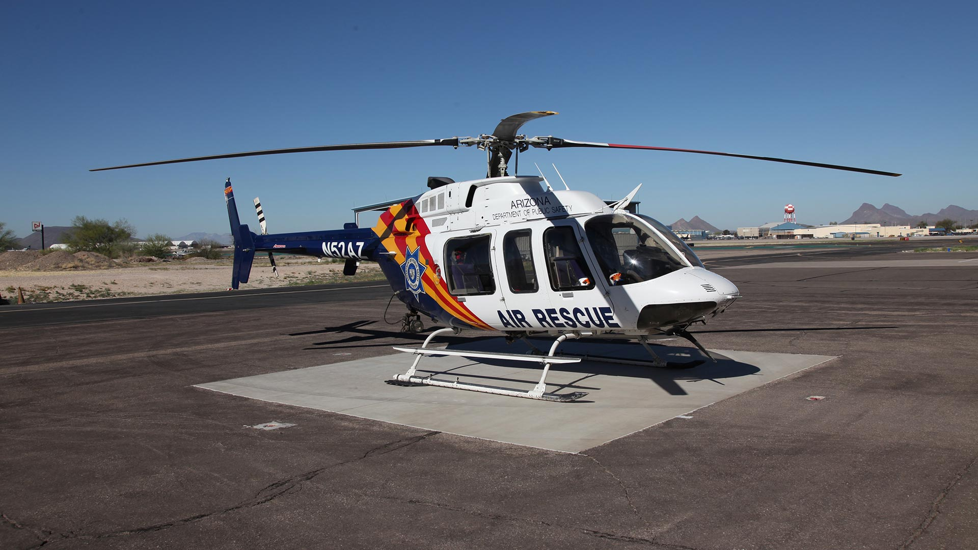One of two Arizona Department of Public Service Helicopters stationed in Tucson.