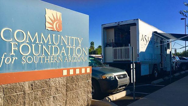 A sign for the Community Foundation for Southern Arizona.