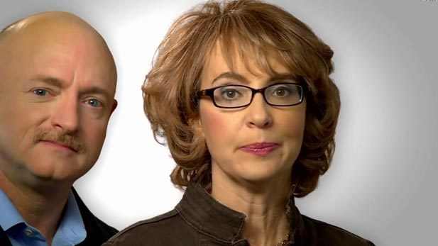 Former Congresswoman Gabrielle Giffords and her husband, Mark Kelly.