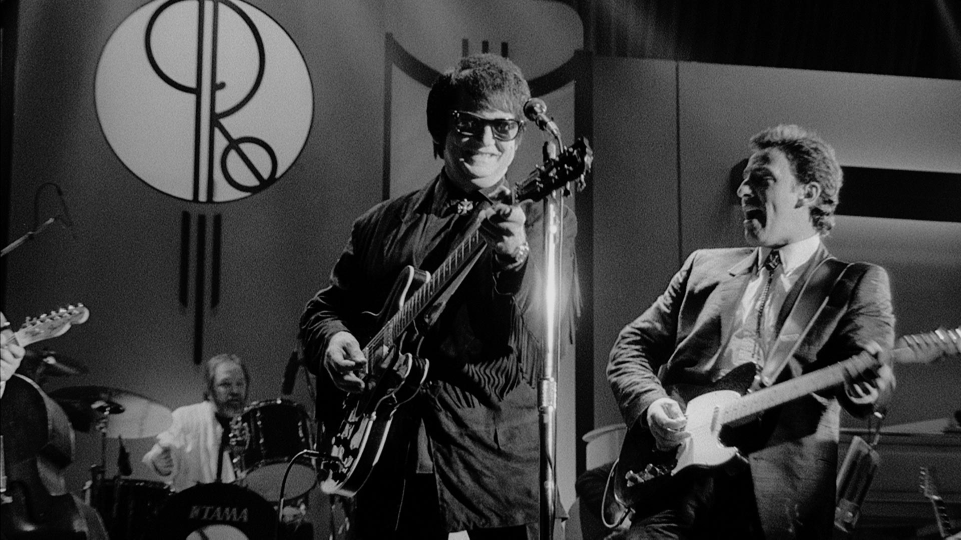 "Roy Orbison and Bruce Springsteen perform ""Dream Baby."""