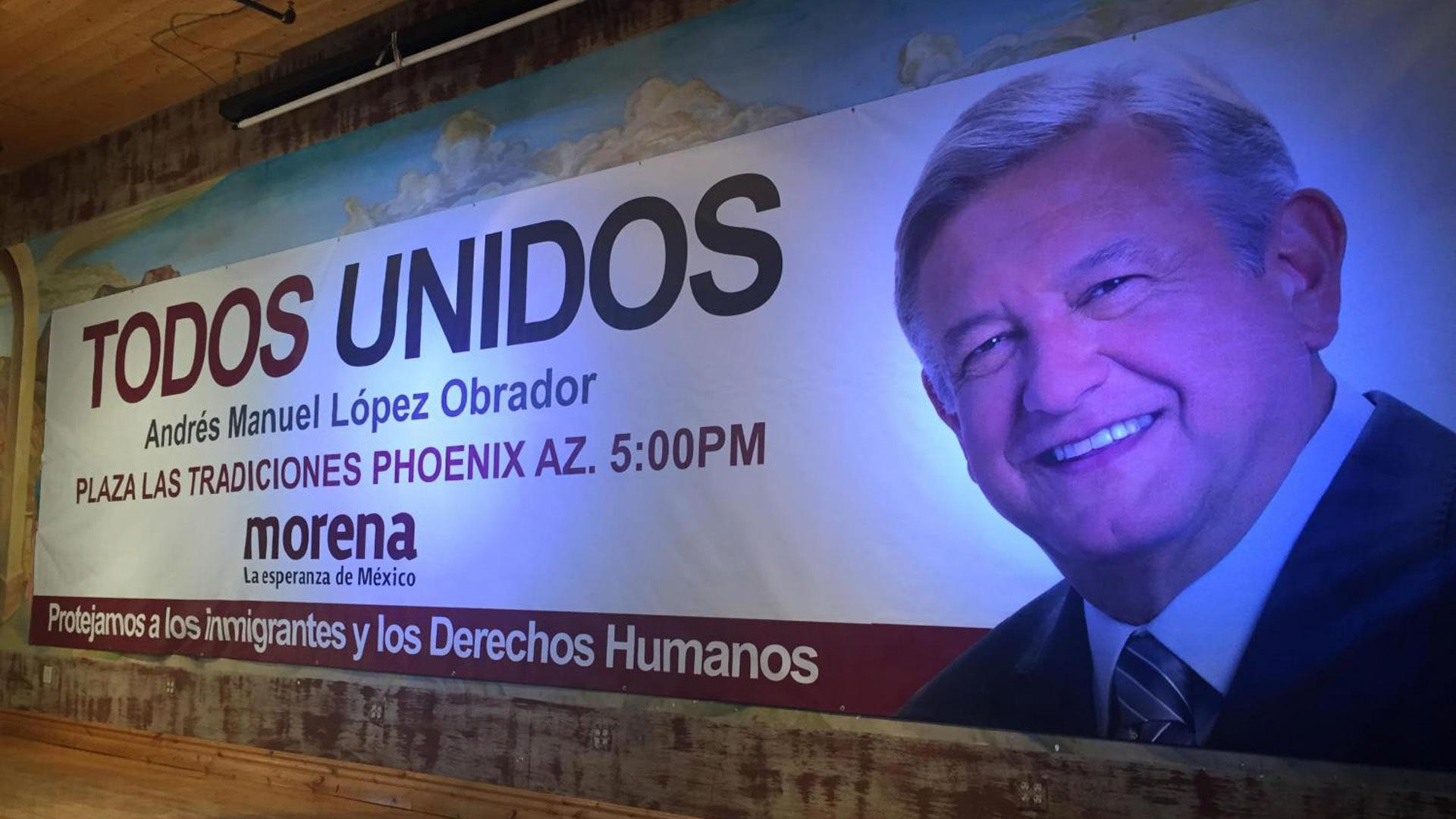 The leader of Morena, Andrés Manuel López Obrador, recently gave a speech about defending immigrants in Phoenix.