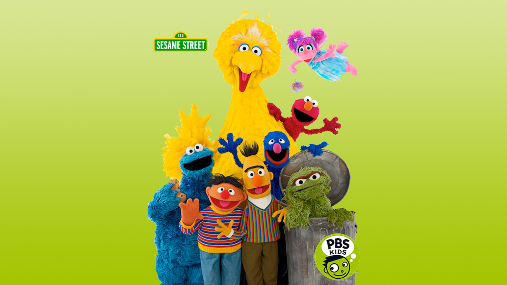 Sesame Street group PBS Kids hero