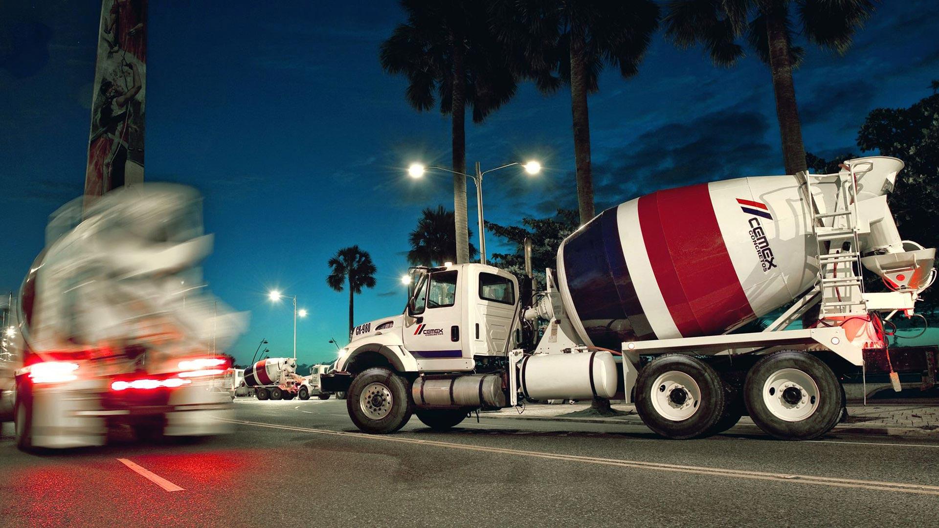 Cemex cement trucks.