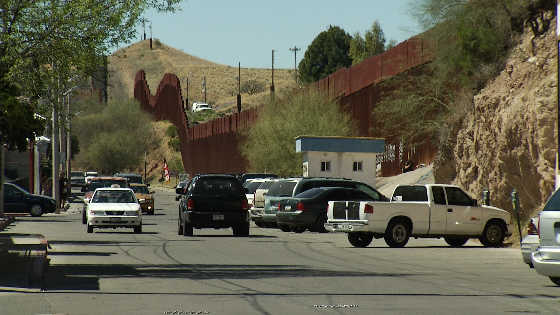The border fence in Nogales, Sonora.
