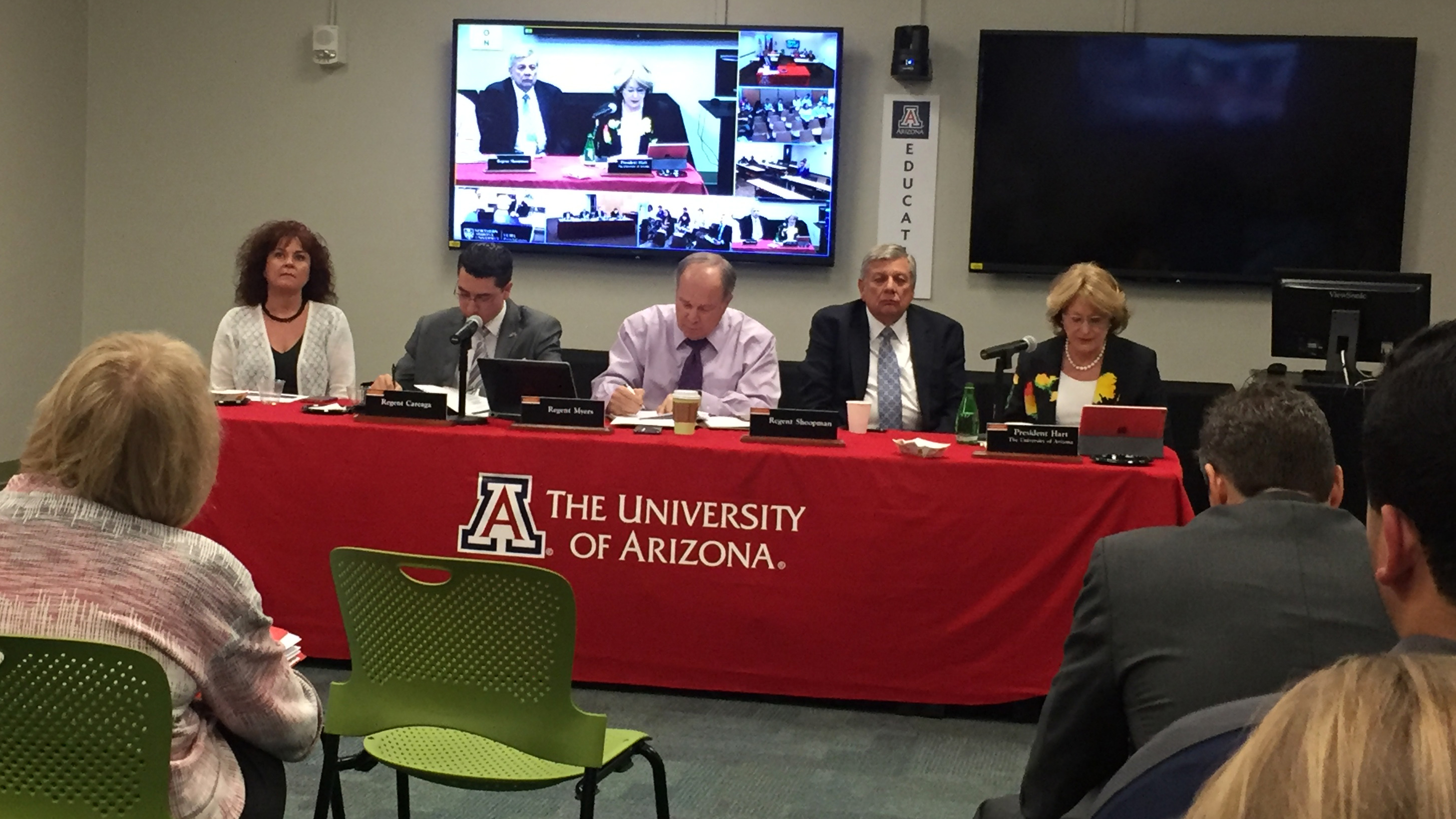 The Arizona Board of Regents listened to student input on the state's three public universities' tuition proposals for the 2017-2018 academic year.