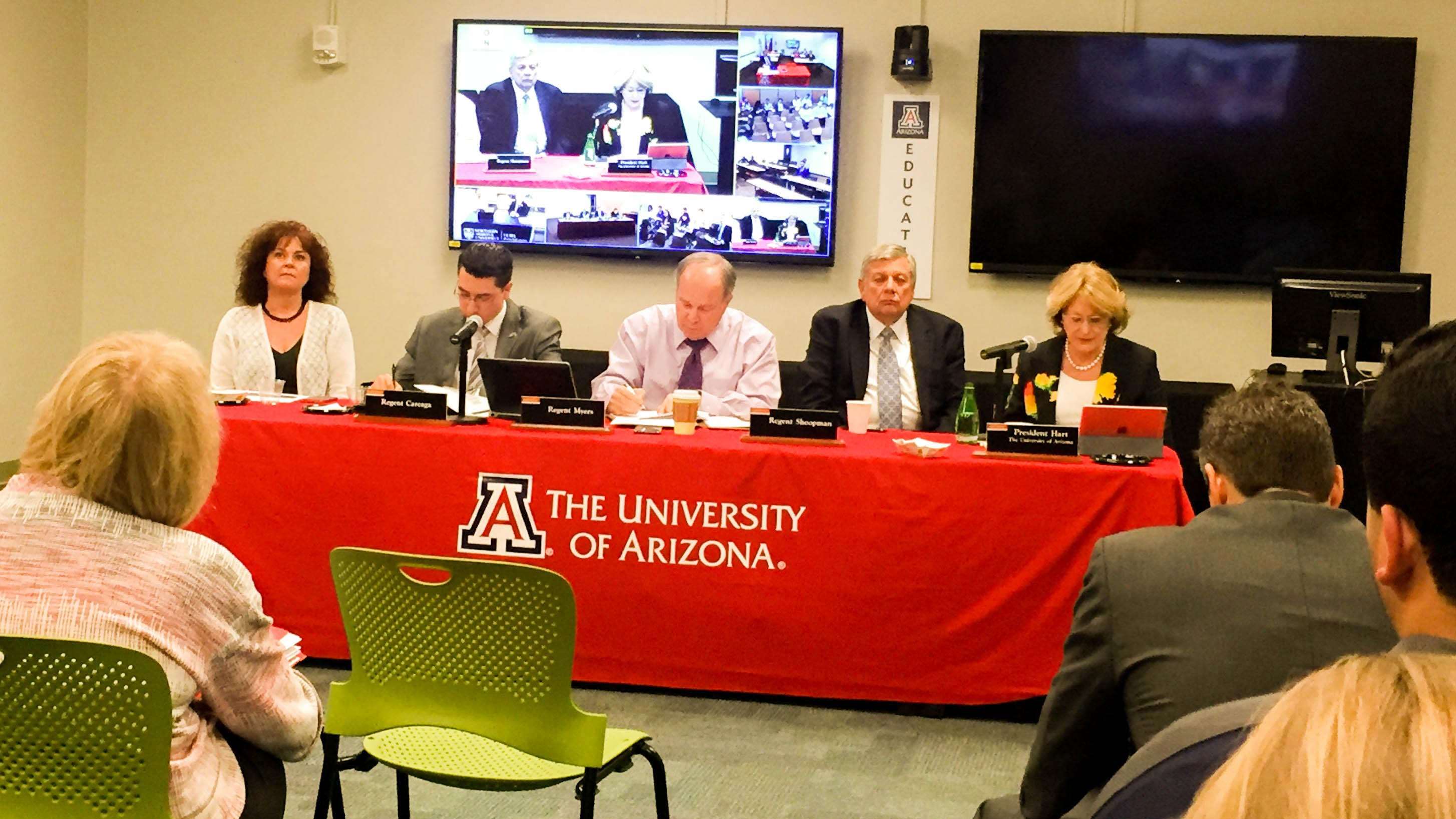 The Arizona Board of Regents listened to student input on the state's three public universities' tuition proposals for the 2017-18 academic year.