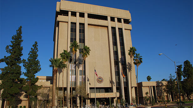 AZ State Executive tower spotlight